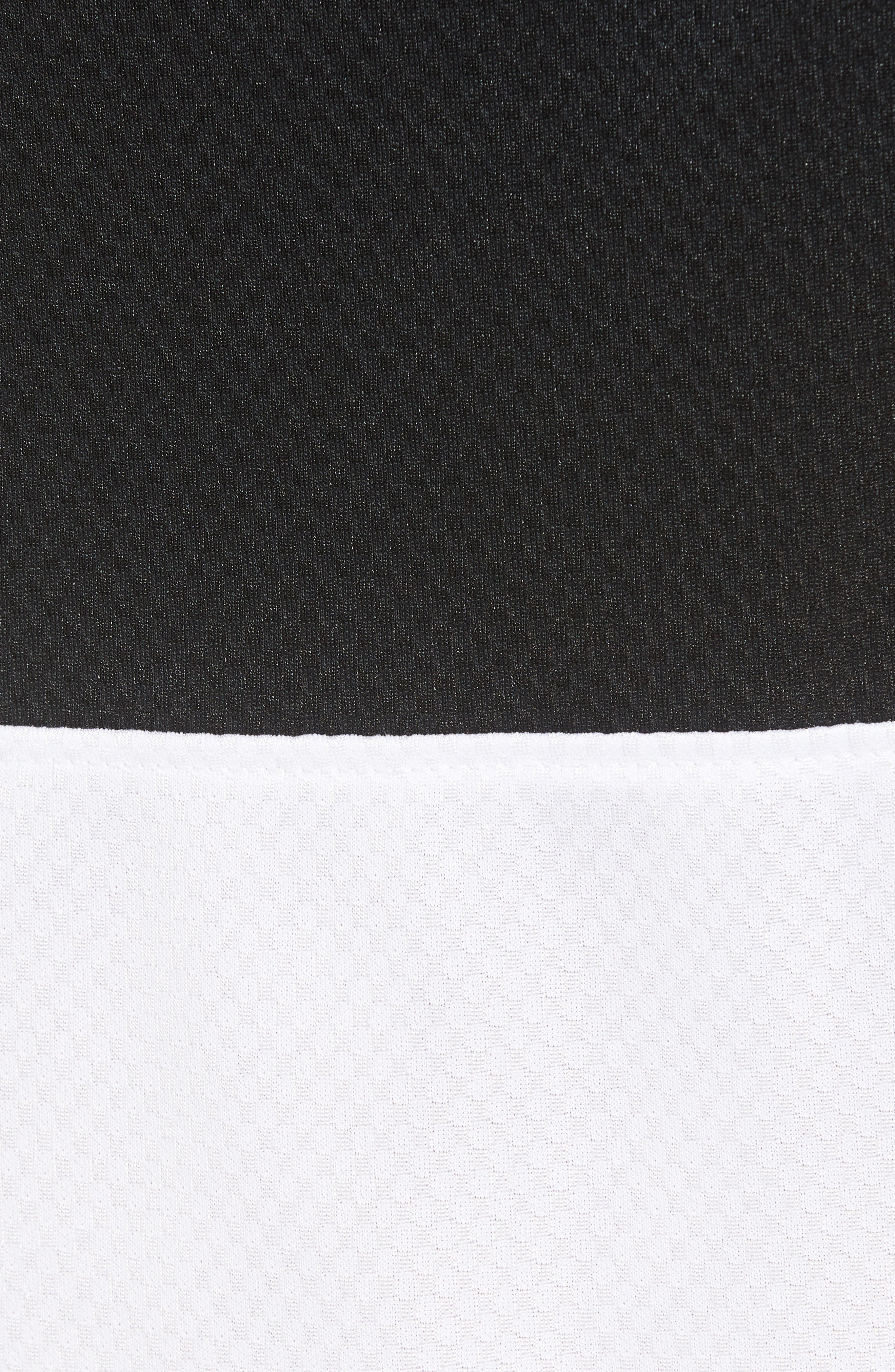 Rise Shorts,                             Alternate thumbnail 5, color,                             WHITE/ BLACK/ BLACK