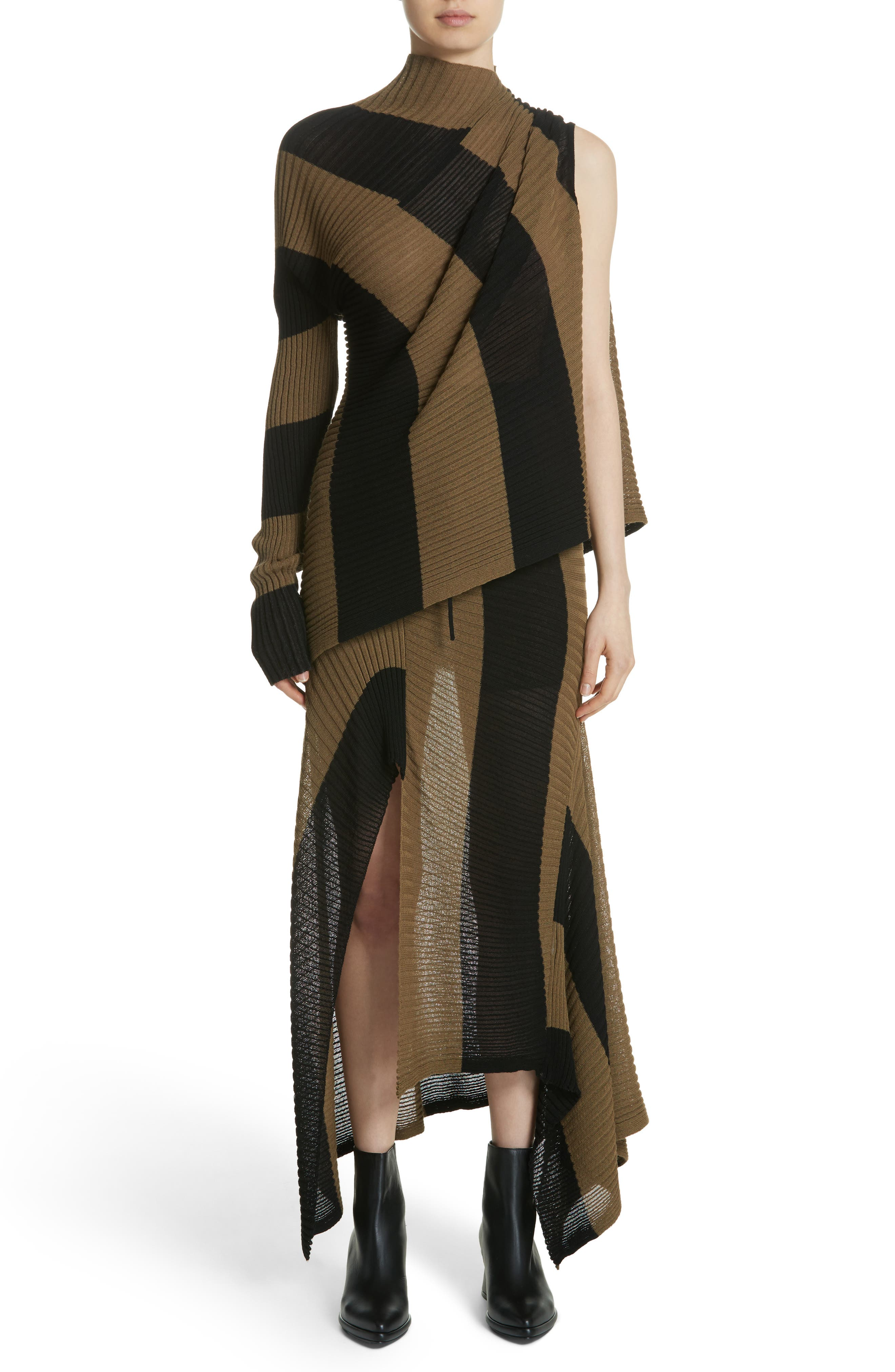 Marques'Almeida Draped Skirt,                             Alternate thumbnail 7, color,                             200