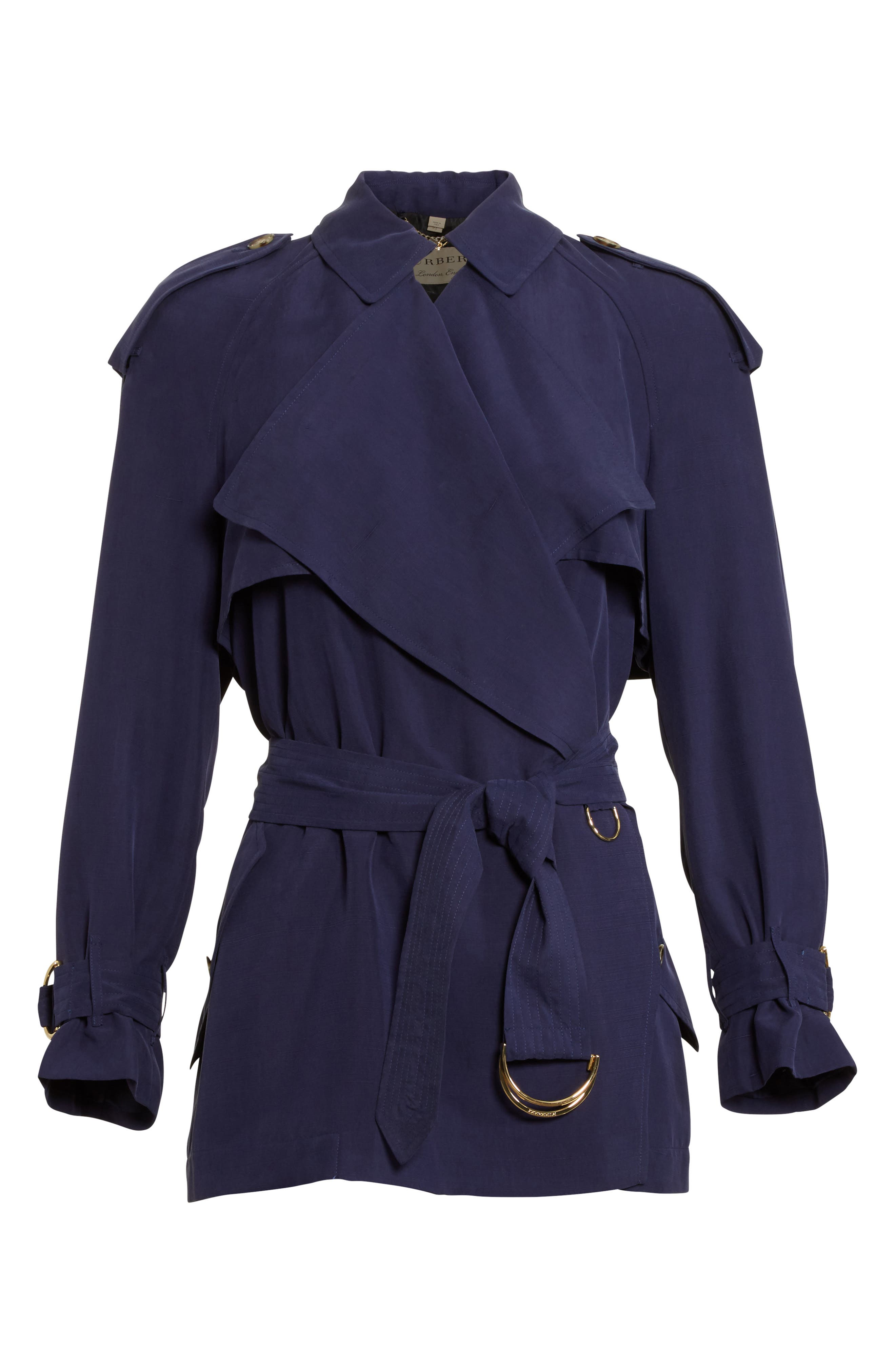 Sanbridge Silk Wrap Coat,                             Alternate thumbnail 5, color,                             410