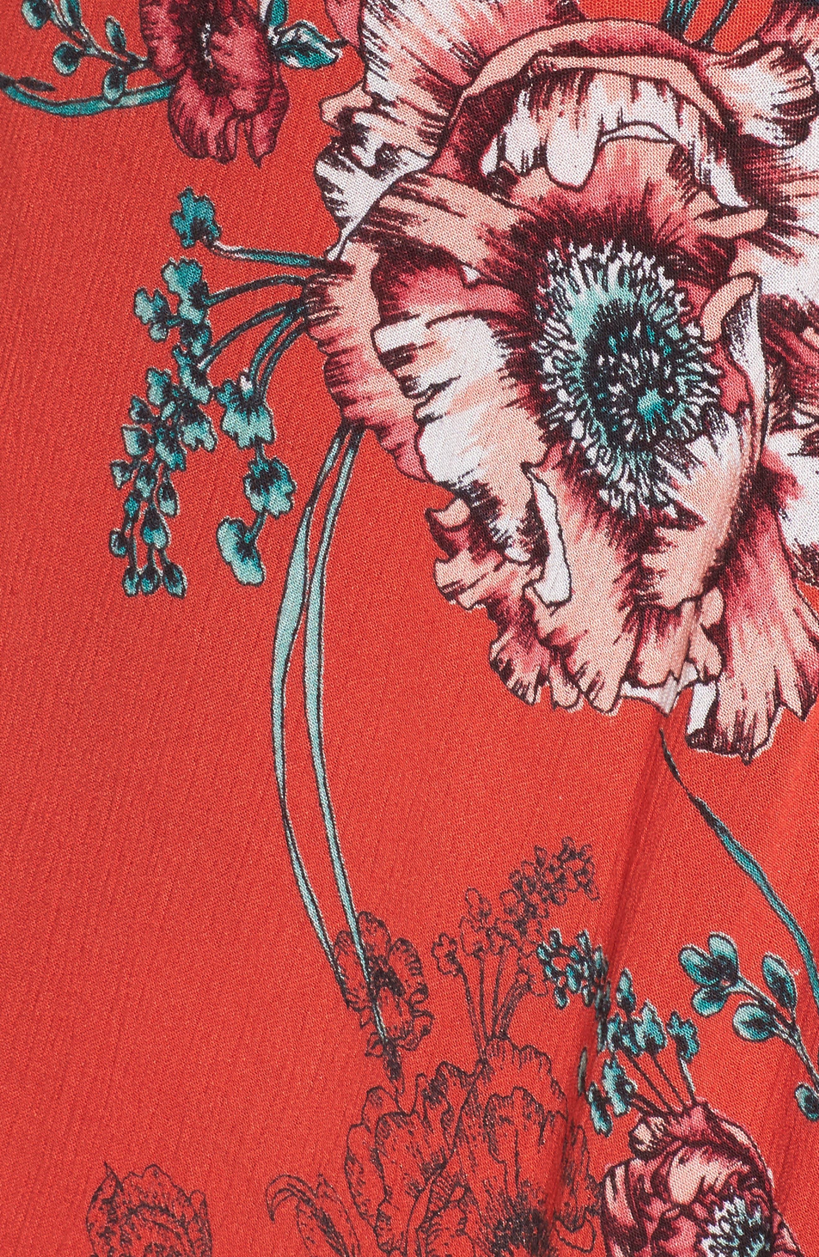 Foulard Cold Shoulder Dress,                             Alternate thumbnail 5, color,                             600