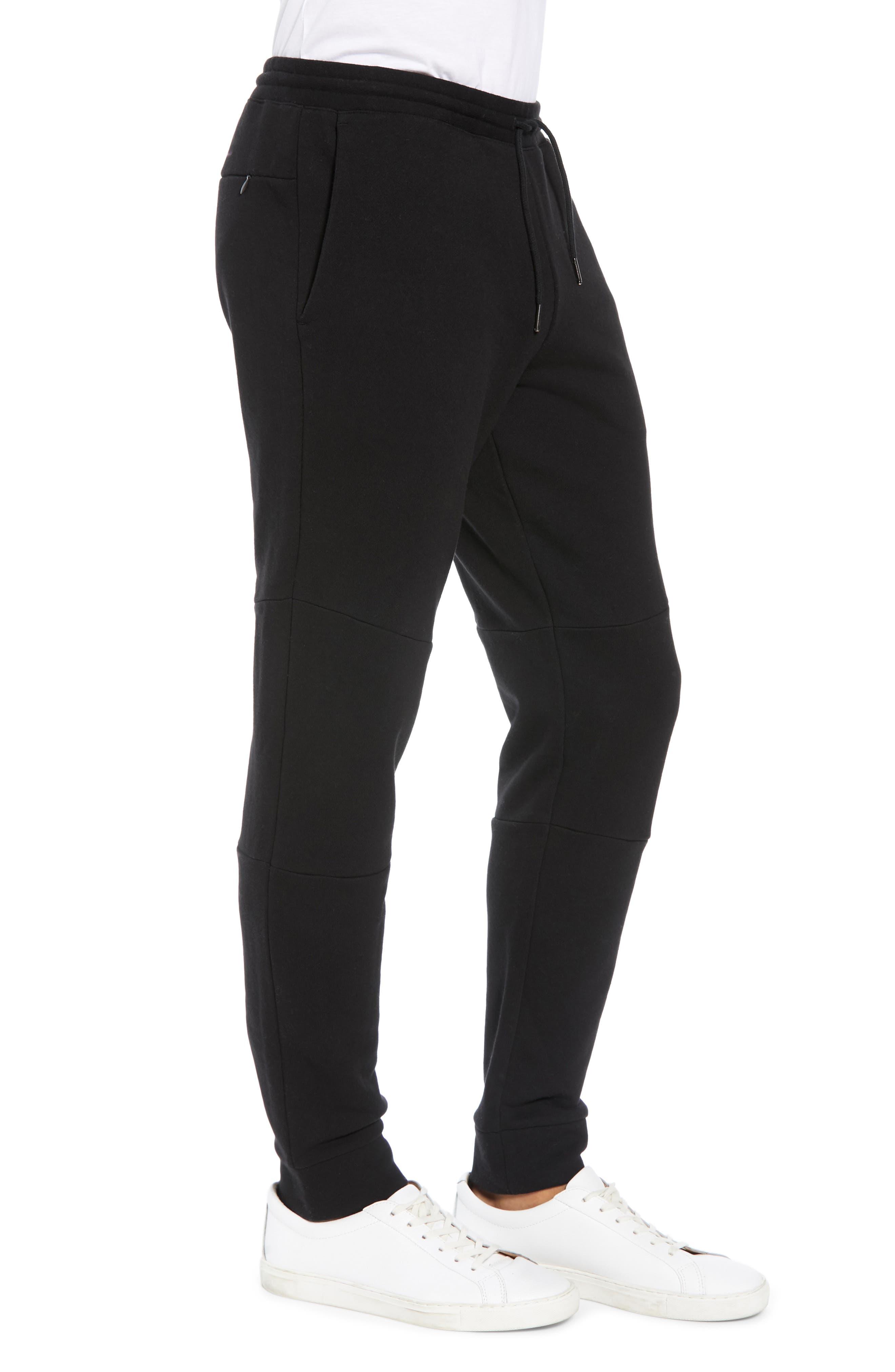 CLUB MONACO,                             Articulated Seam Jogger Pants,                             Alternate thumbnail 3, color,                             001