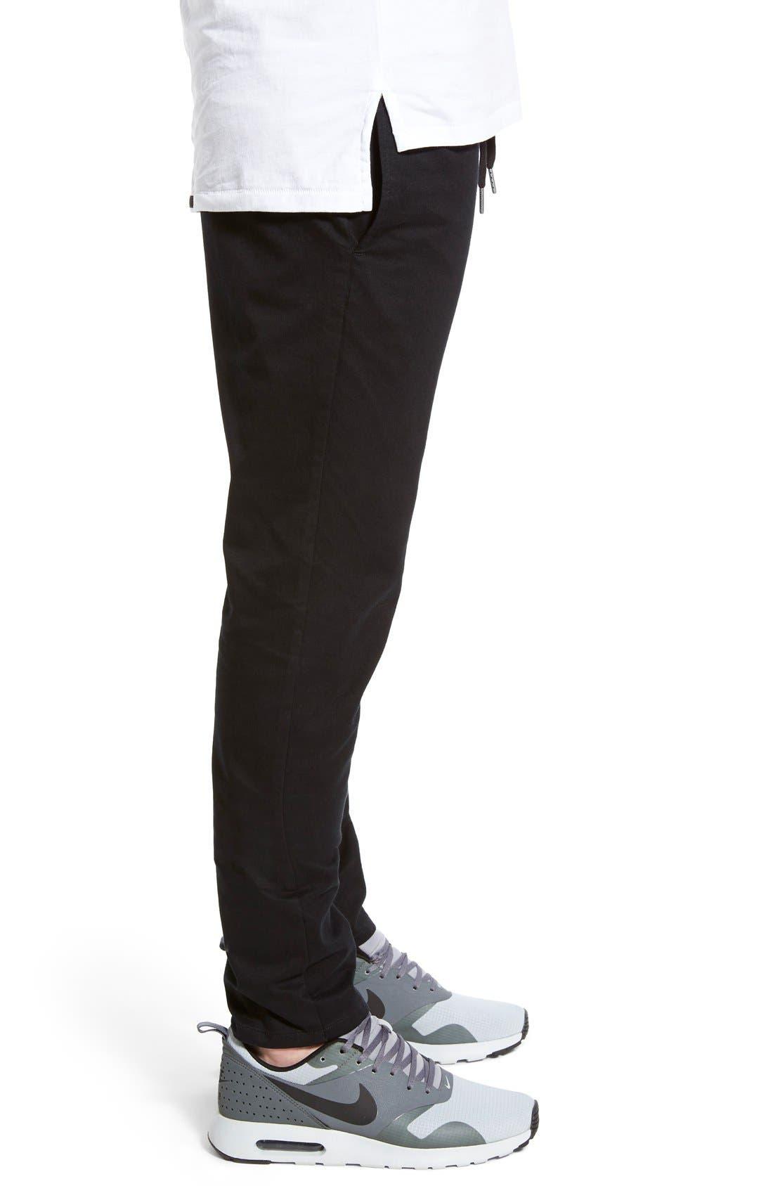 Salerno Stretch Woven Jogger Pants,                             Alternate thumbnail 2, color,                             BLACK