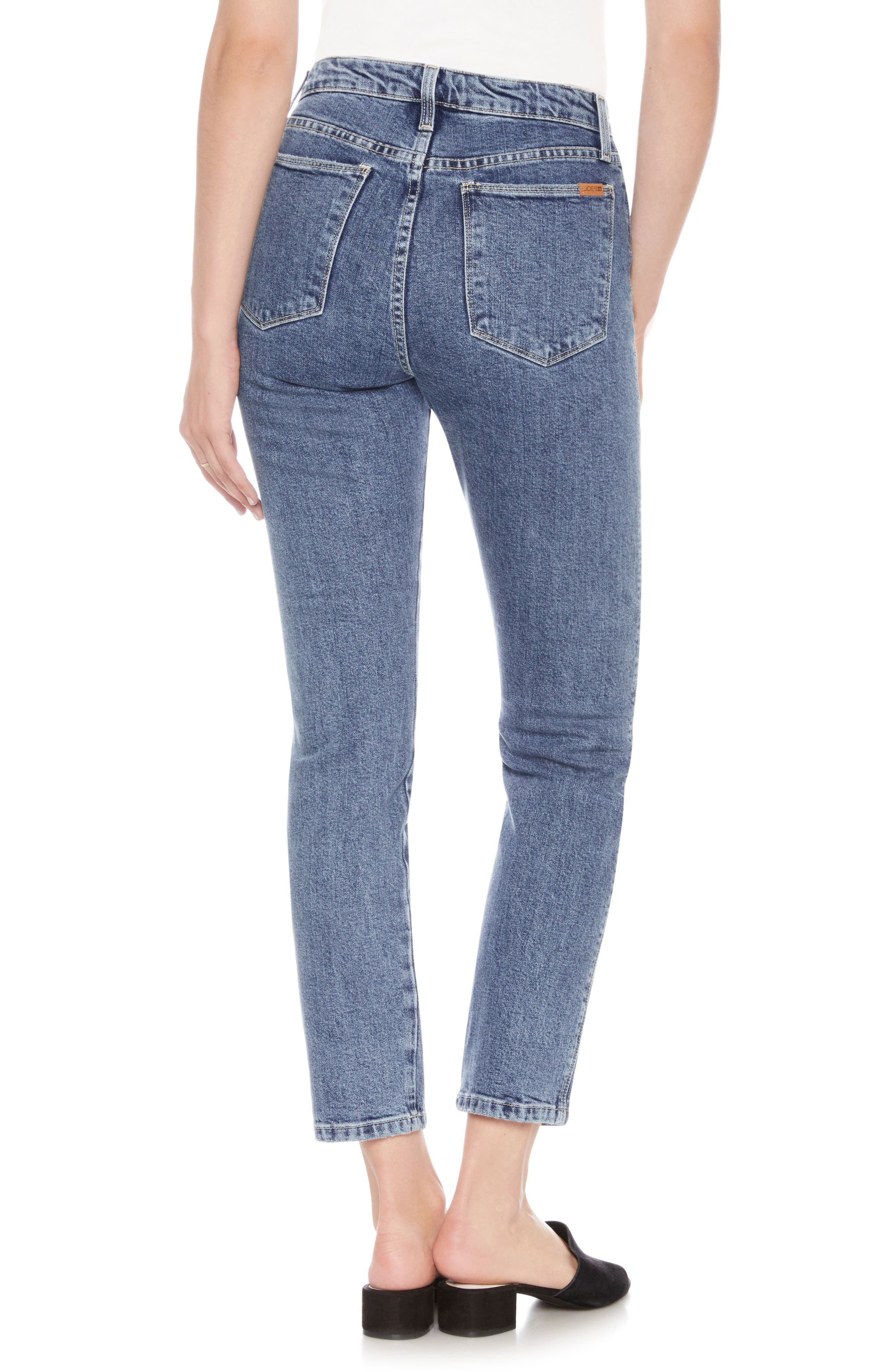 Kass Ankle Skinny Jeans,                             Alternate thumbnail 2, color,                             ALAIA