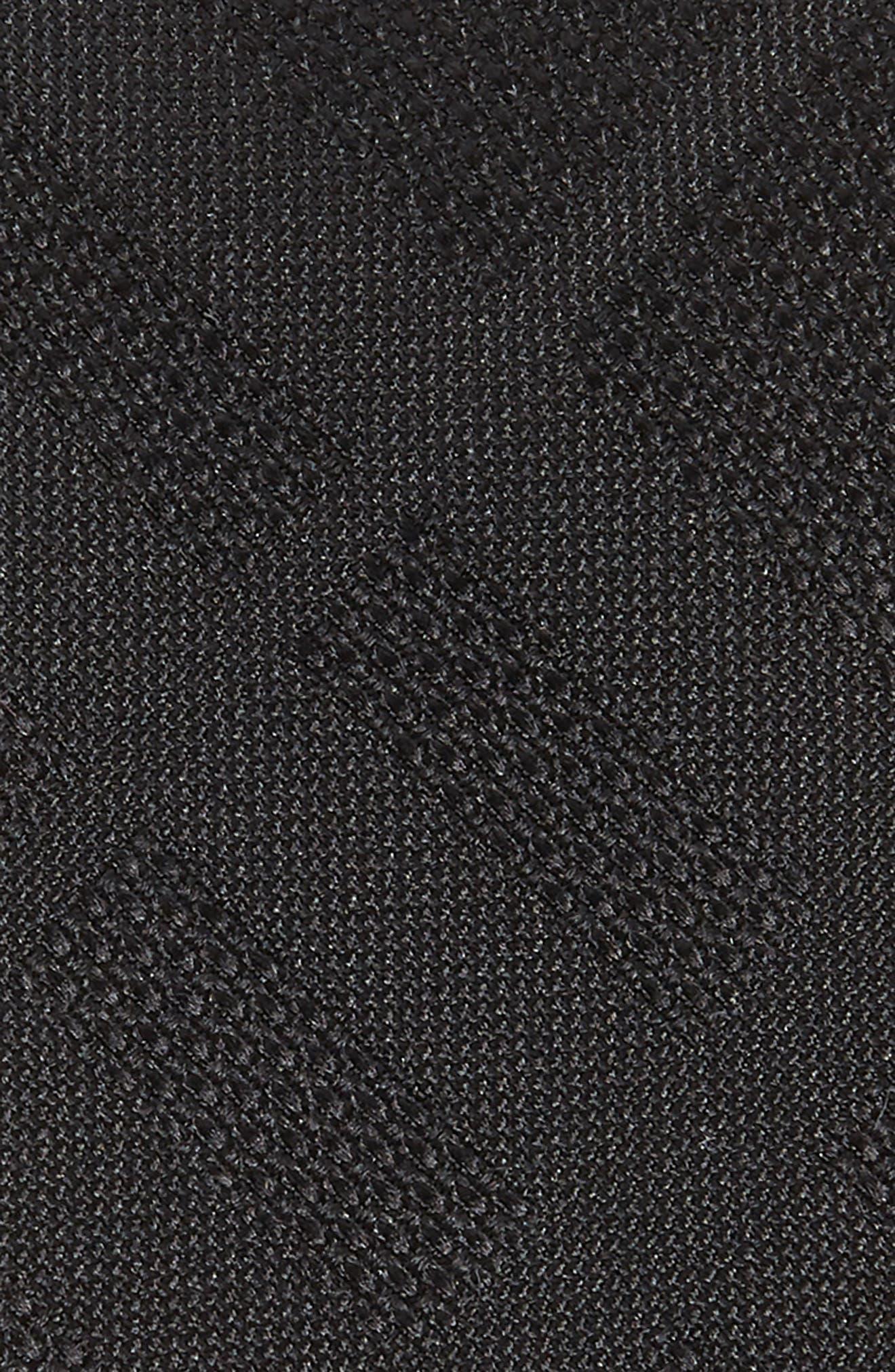 Manston Tonal Check Silk Skinny Tie,                             Alternate thumbnail 2, color,                             BLACK