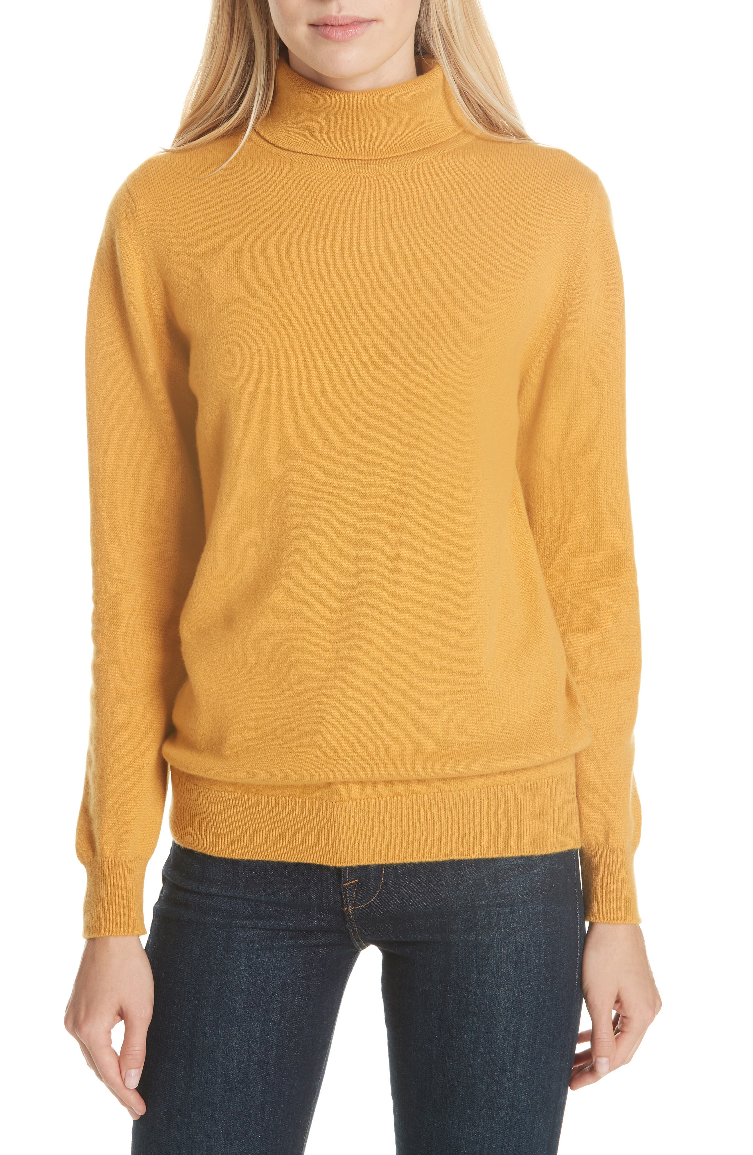 DAUGHTER Casla Cashmere Roll Neck Sweater in Tansy