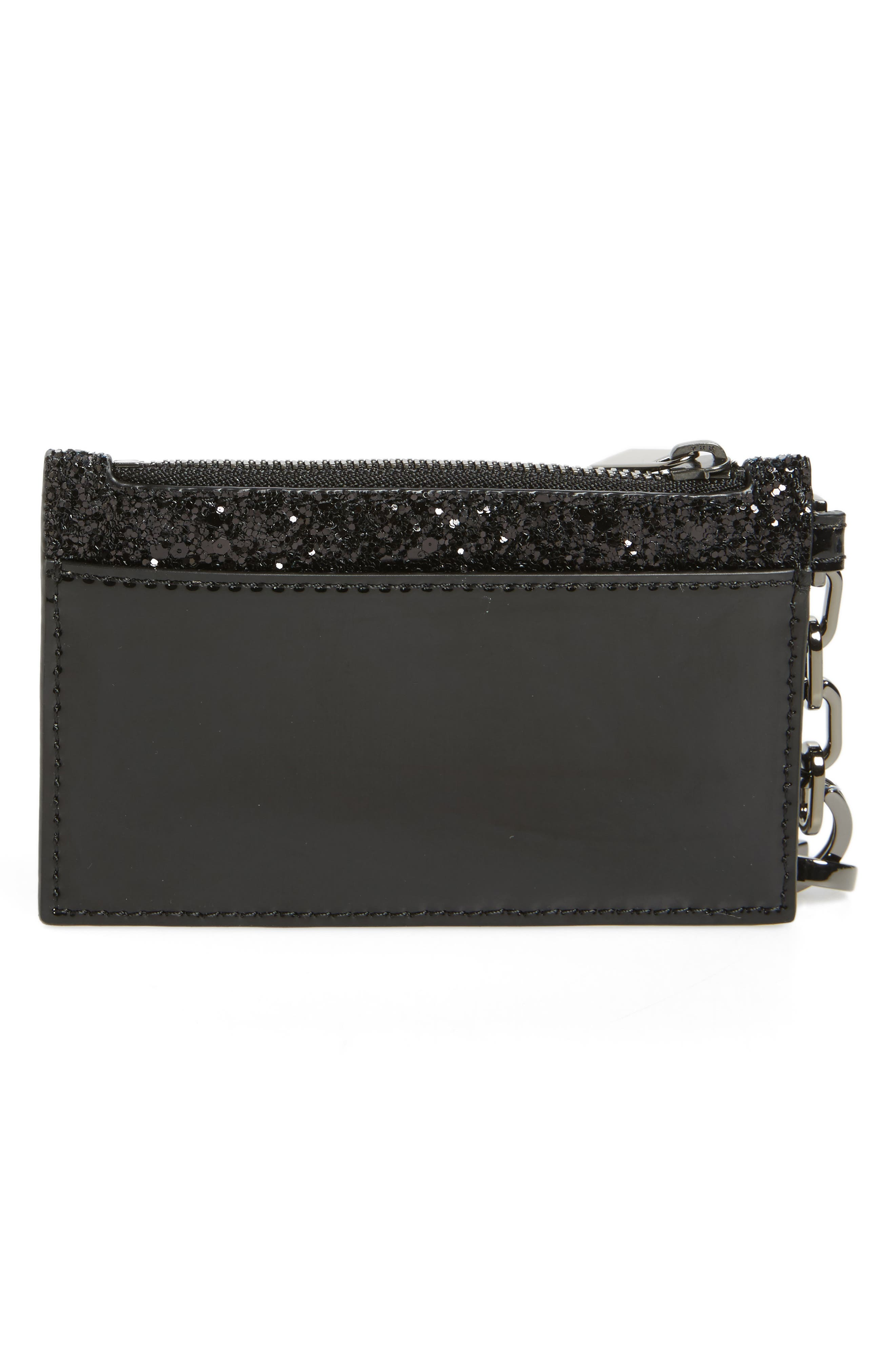 Robinson Glitter Card Case with Key Chain,                             Alternate thumbnail 2, color,                             001