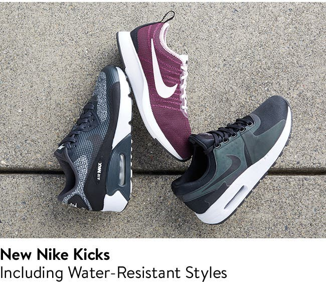 New Nike kicks, including water-resistant styles.