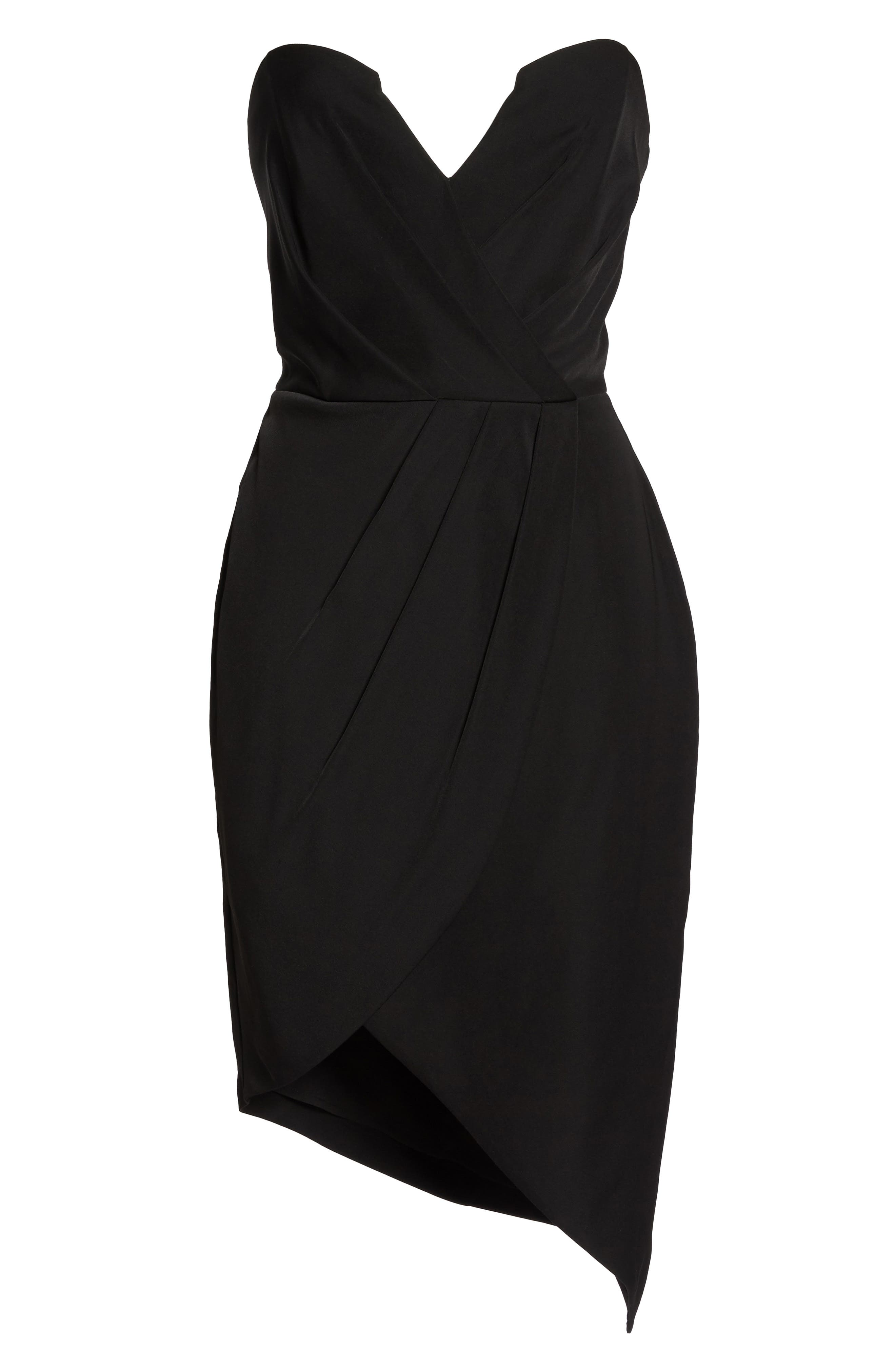 Loren Strapless Asymmetric Dress,                             Alternate thumbnail 6, color,