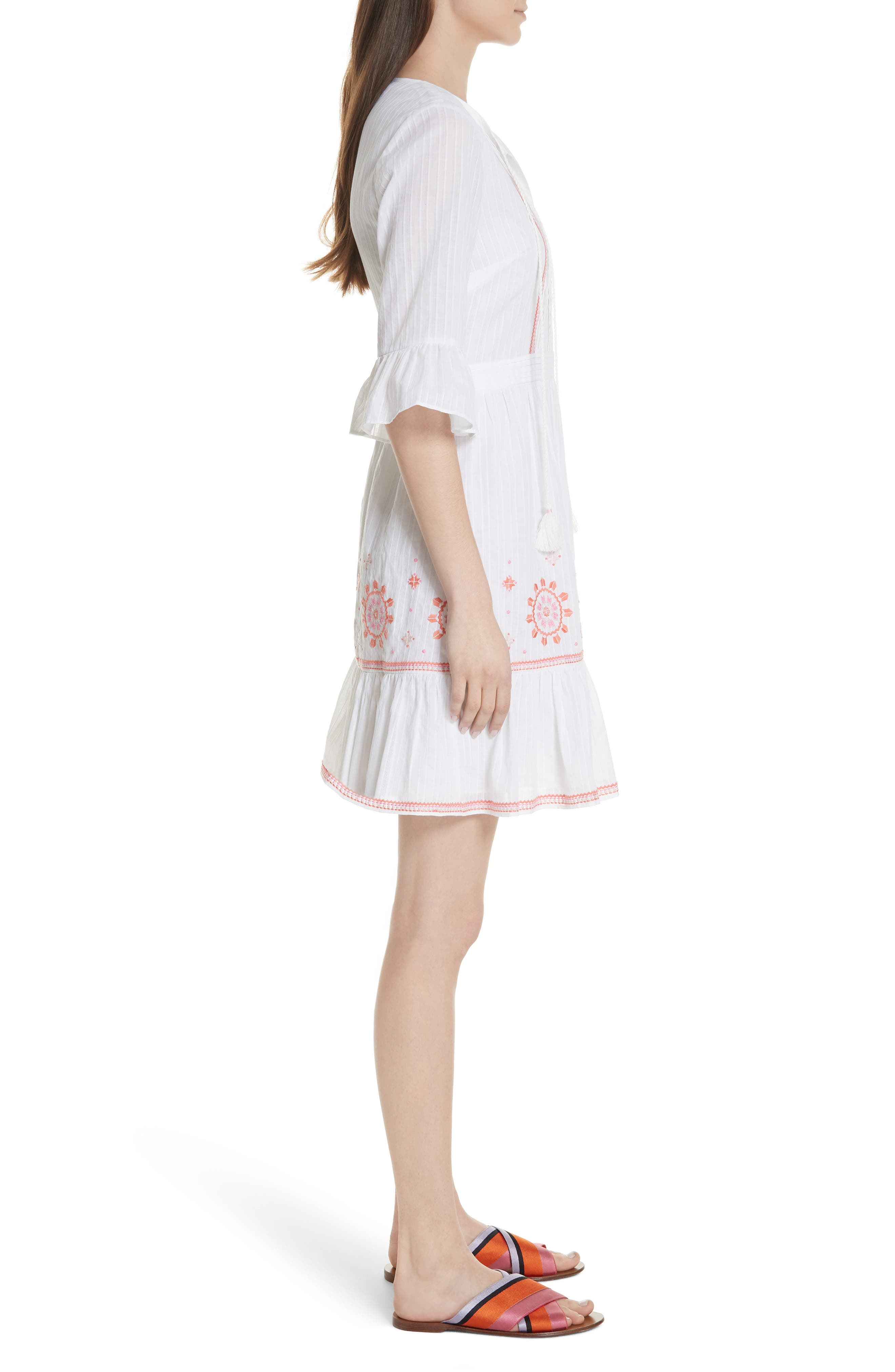 mosaic embroidered dress,                             Alternate thumbnail 6, color,