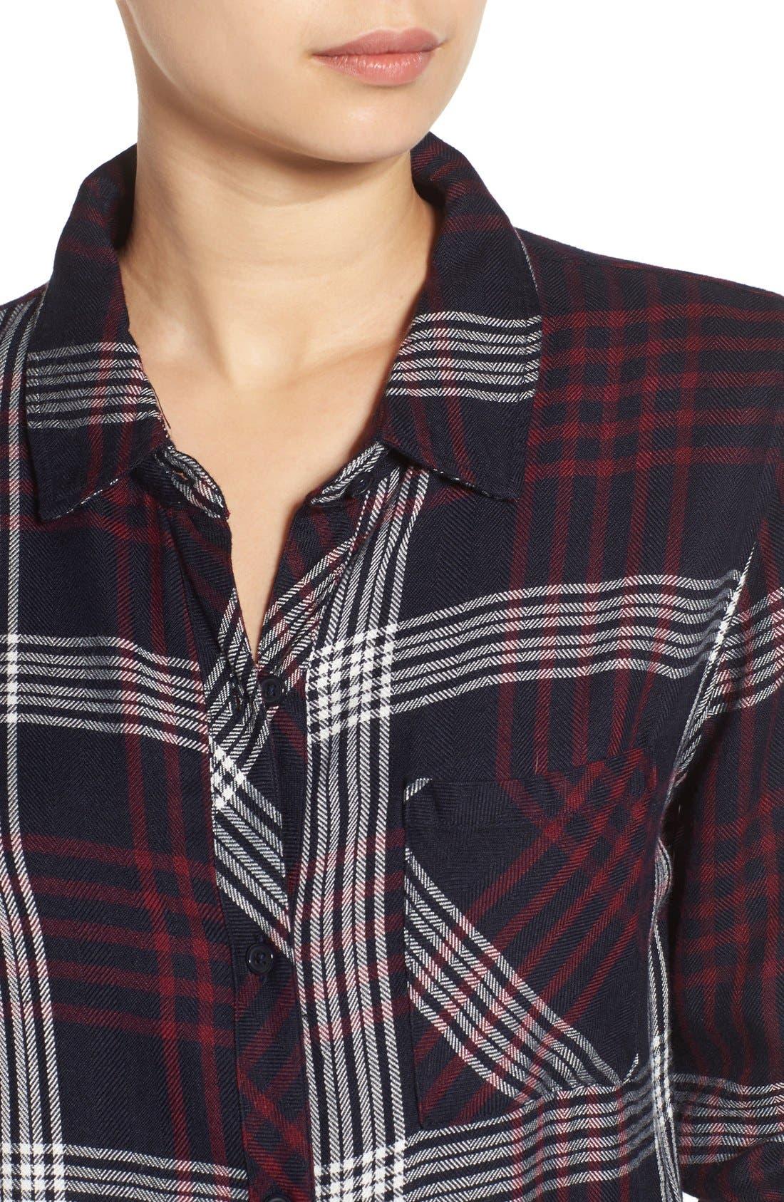 Hunter Plaid Shirt,                             Alternate thumbnail 398, color,