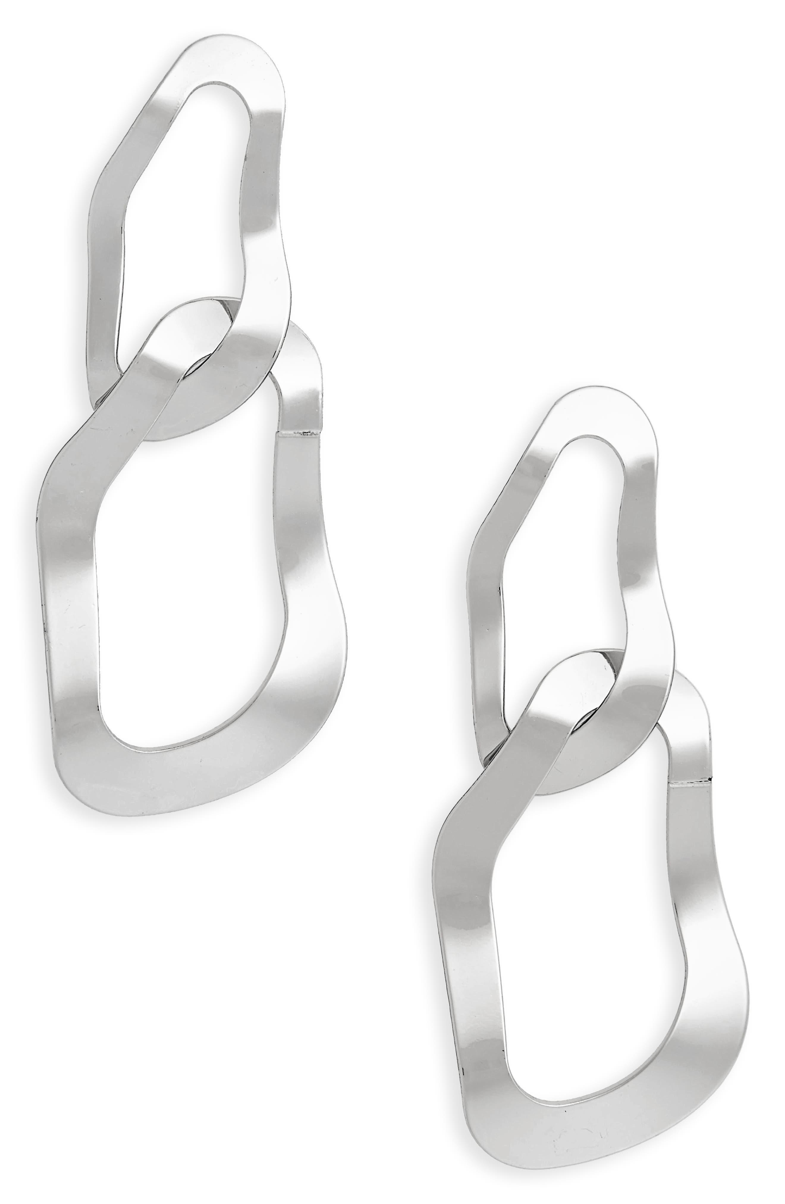 Textured Chain Drop Earrings,                             Main thumbnail 1, color,                             040