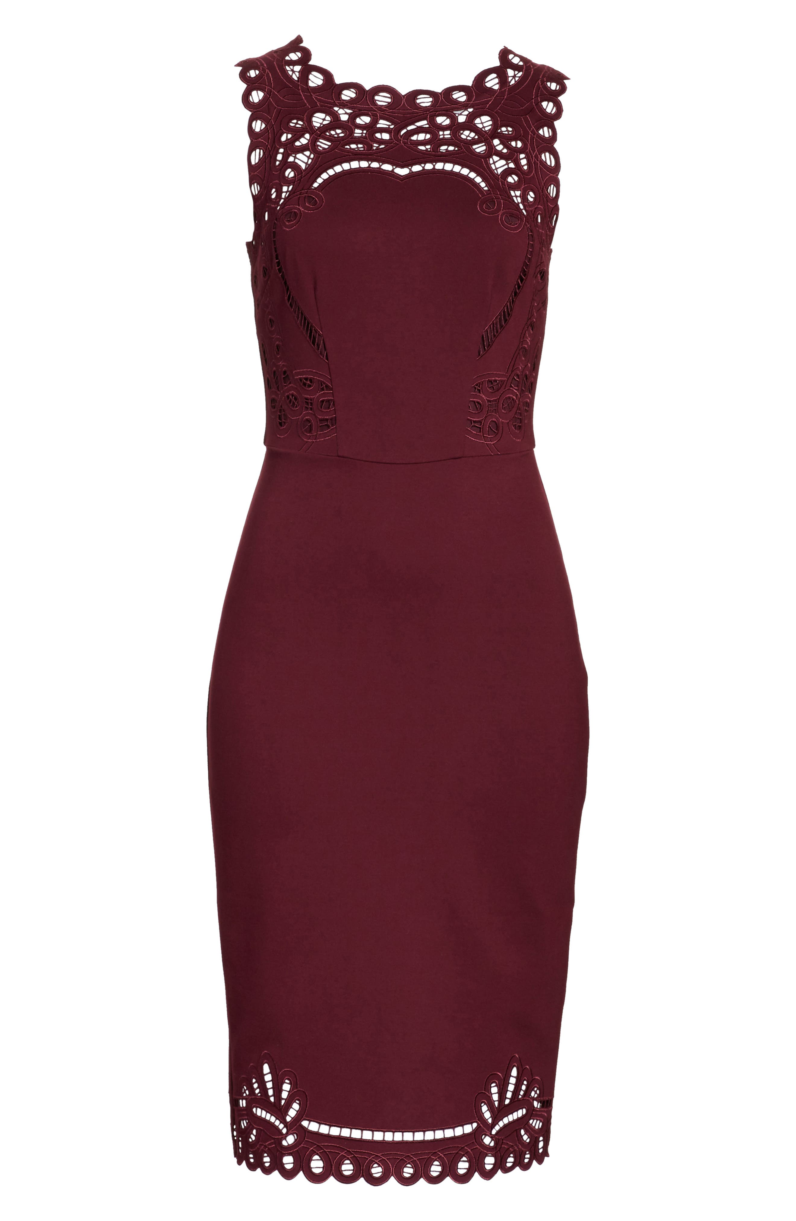 Verita Cutout Yoke Sheath Dress,                             Alternate thumbnail 6, color,                             930