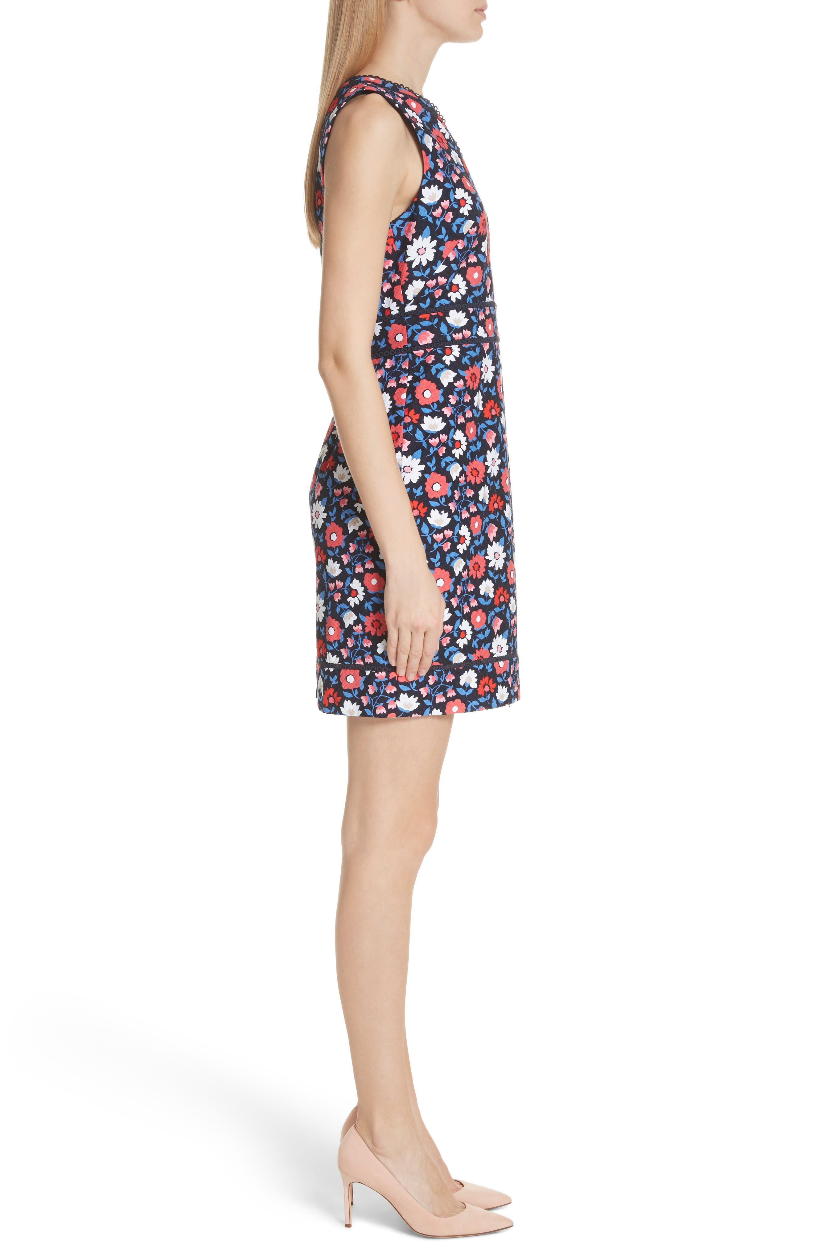 kate spade daisy jacquard sheath dress,                             Alternate thumbnail 3, color,