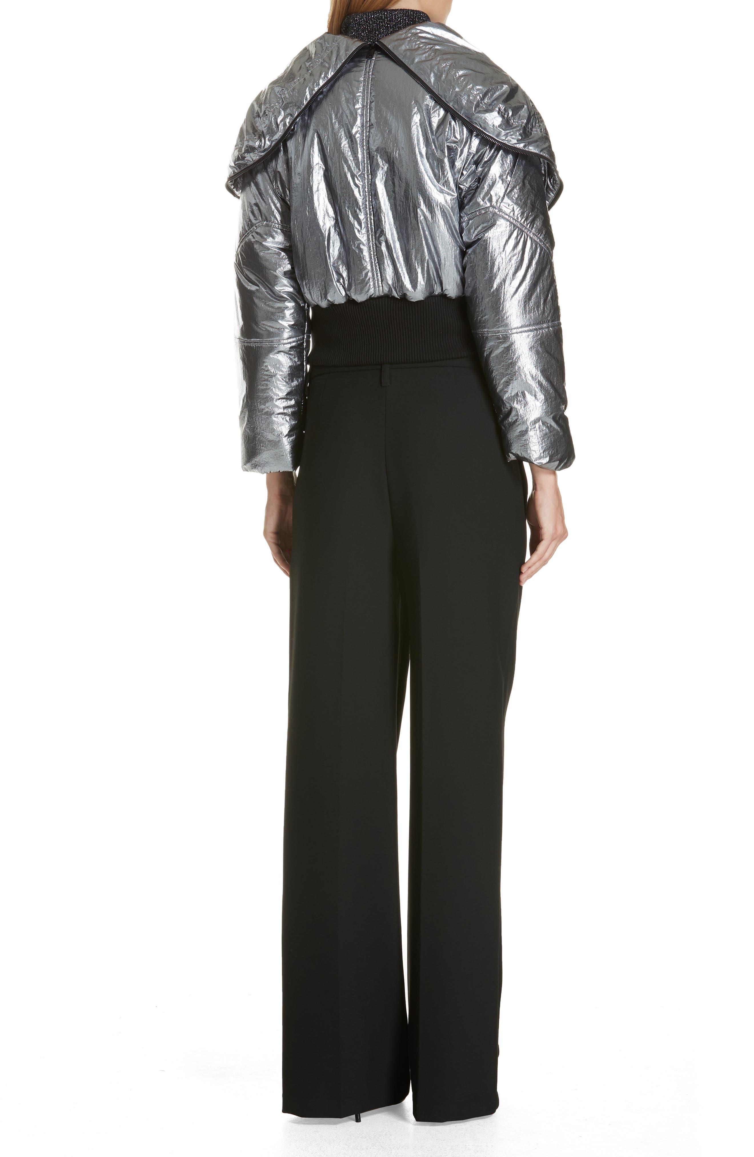 Metallic Crop Puffer Jacket,                             Alternate thumbnail 2, color,                             040