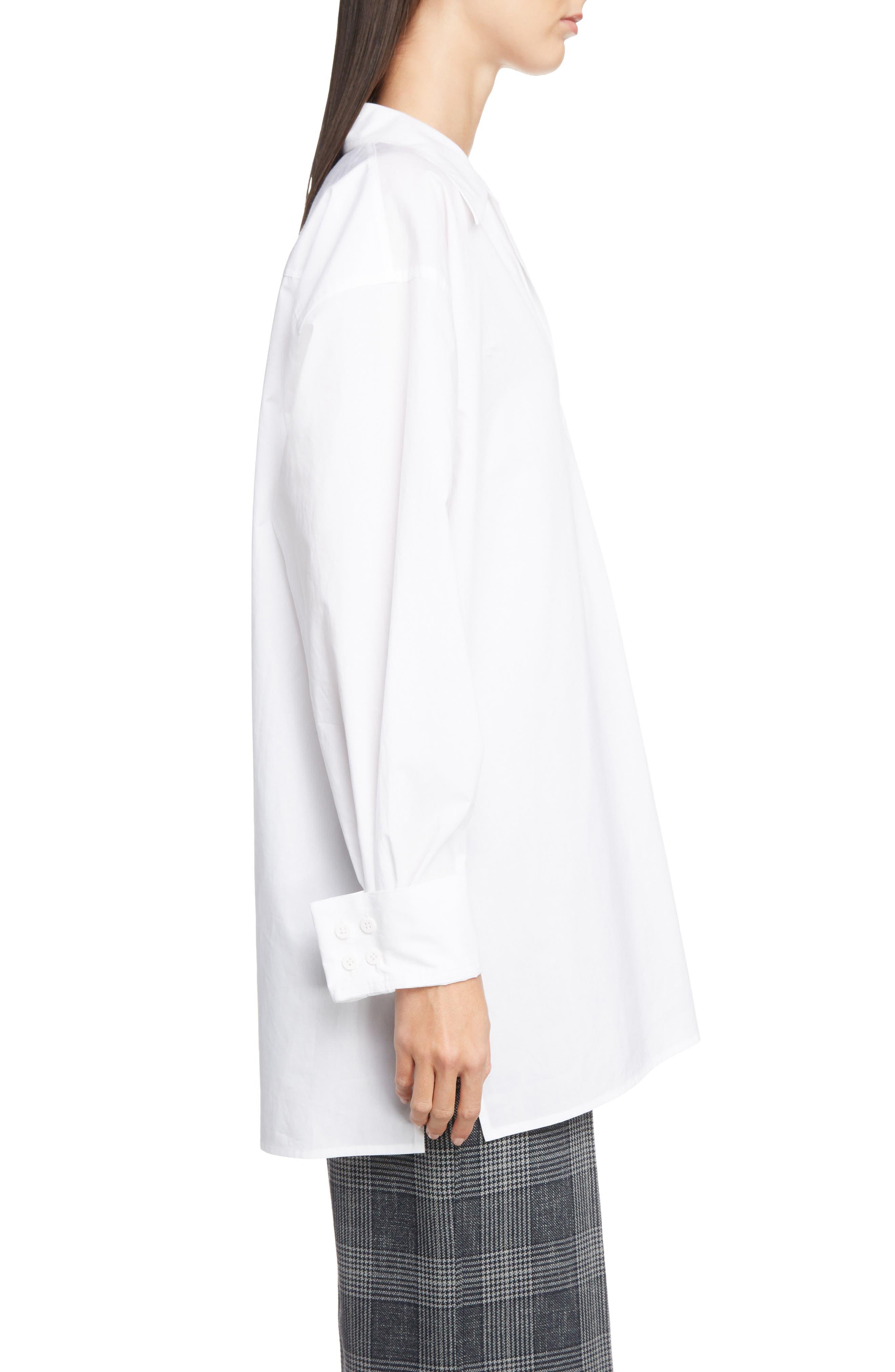 ACNE STUDIOS,                             Spread Collar Shirt,                             Alternate thumbnail 3, color,                             WHITE