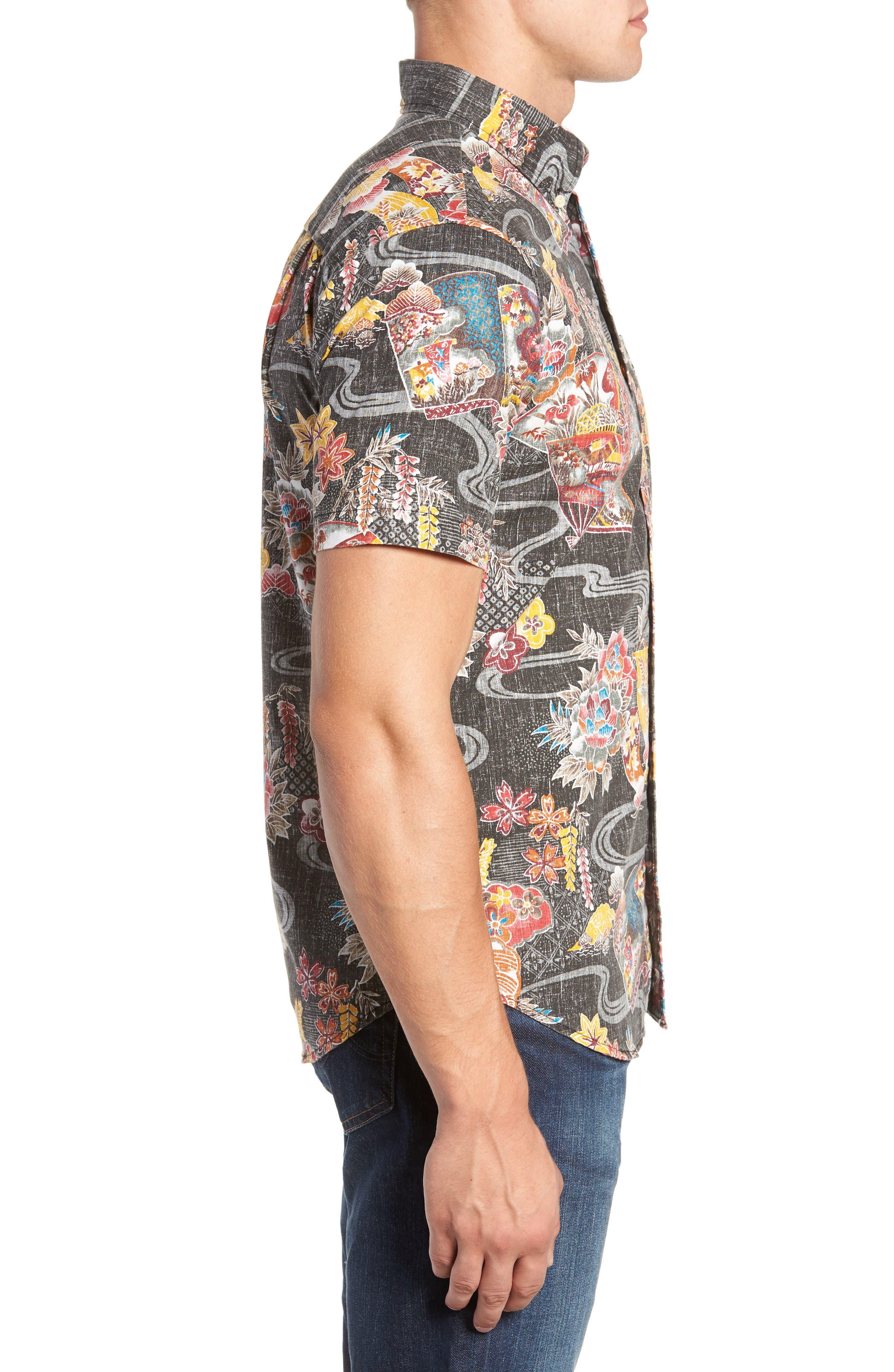 Mizu No Kokoro Regular Fit Sport Shirt,                             Alternate thumbnail 4, color,                             001