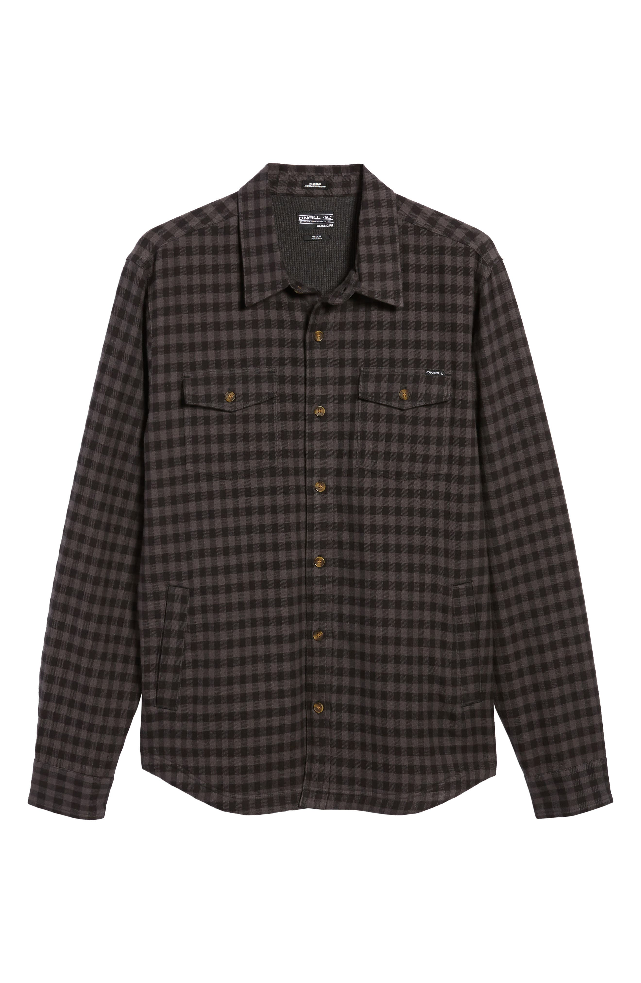 Gronk Lined Flannel Shirt,                             Alternate thumbnail 6, color,                             001