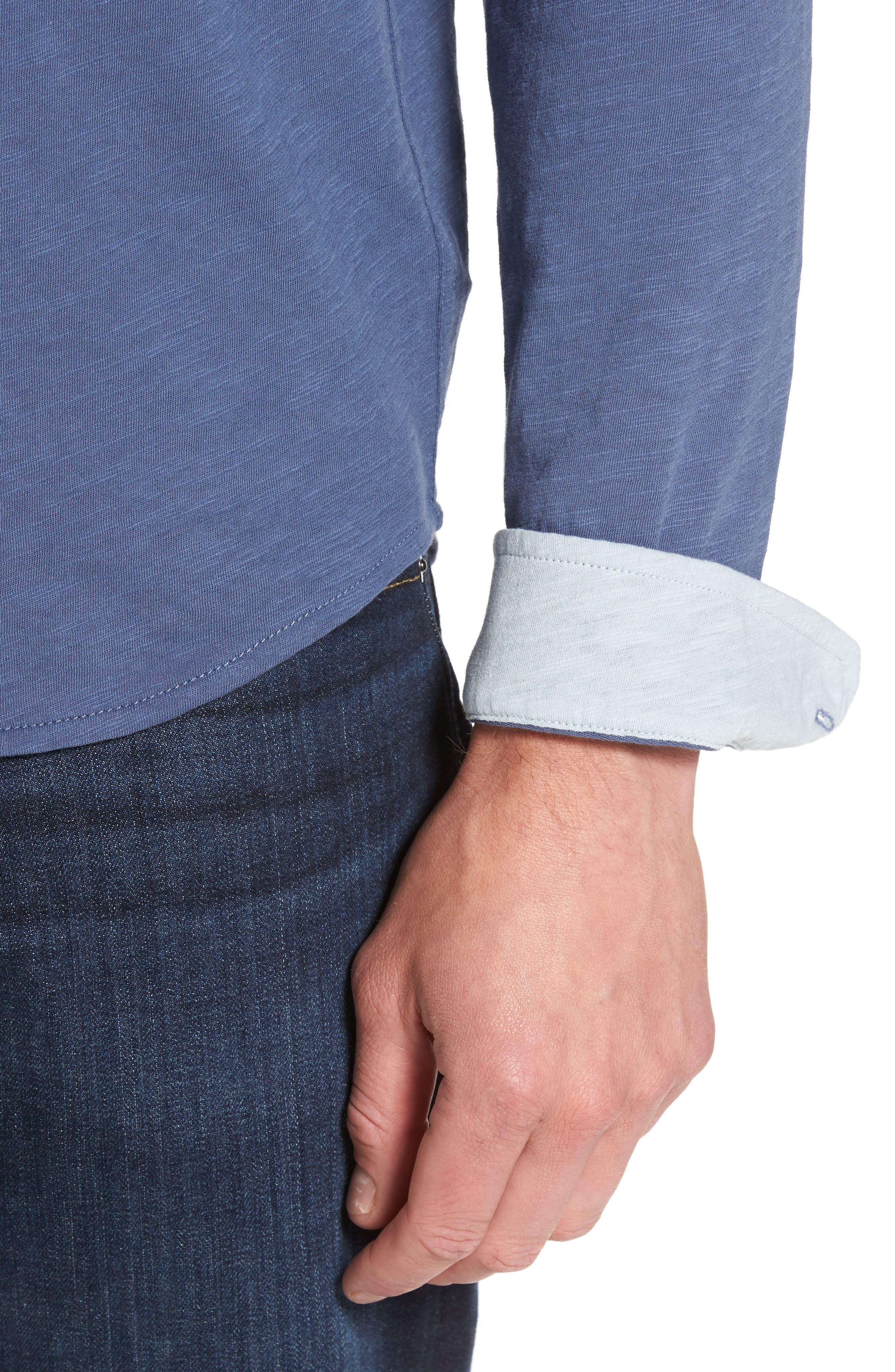 Camara Trim Fit Knit Sport Shirt,                             Alternate thumbnail 12, color,