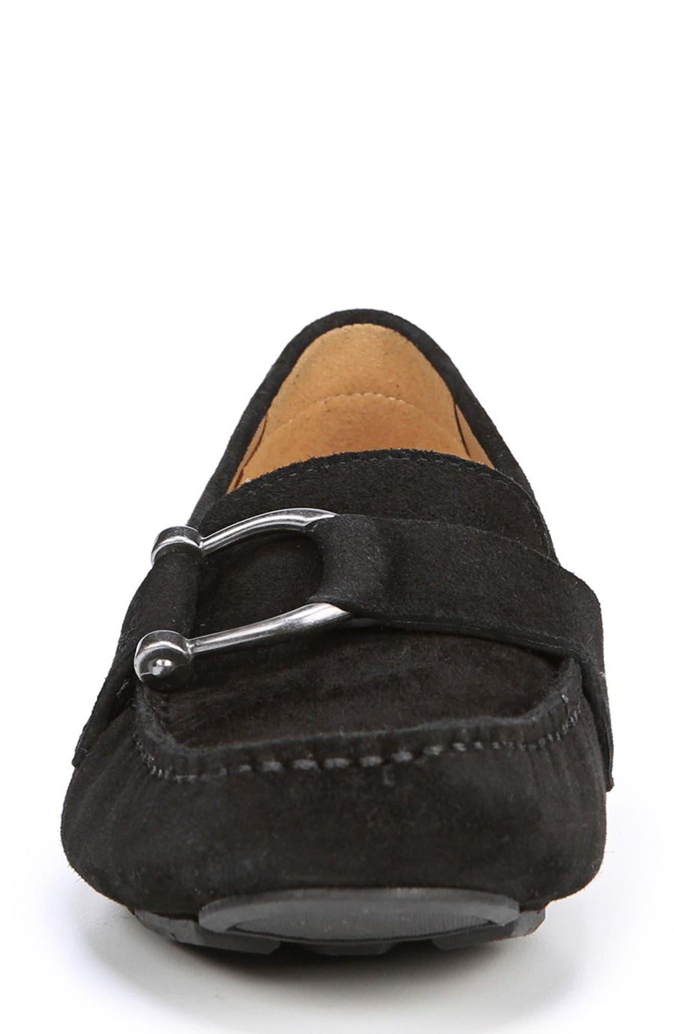 Nara Loafer,                             Alternate thumbnail 4, color,                             BLACK SUEDE
