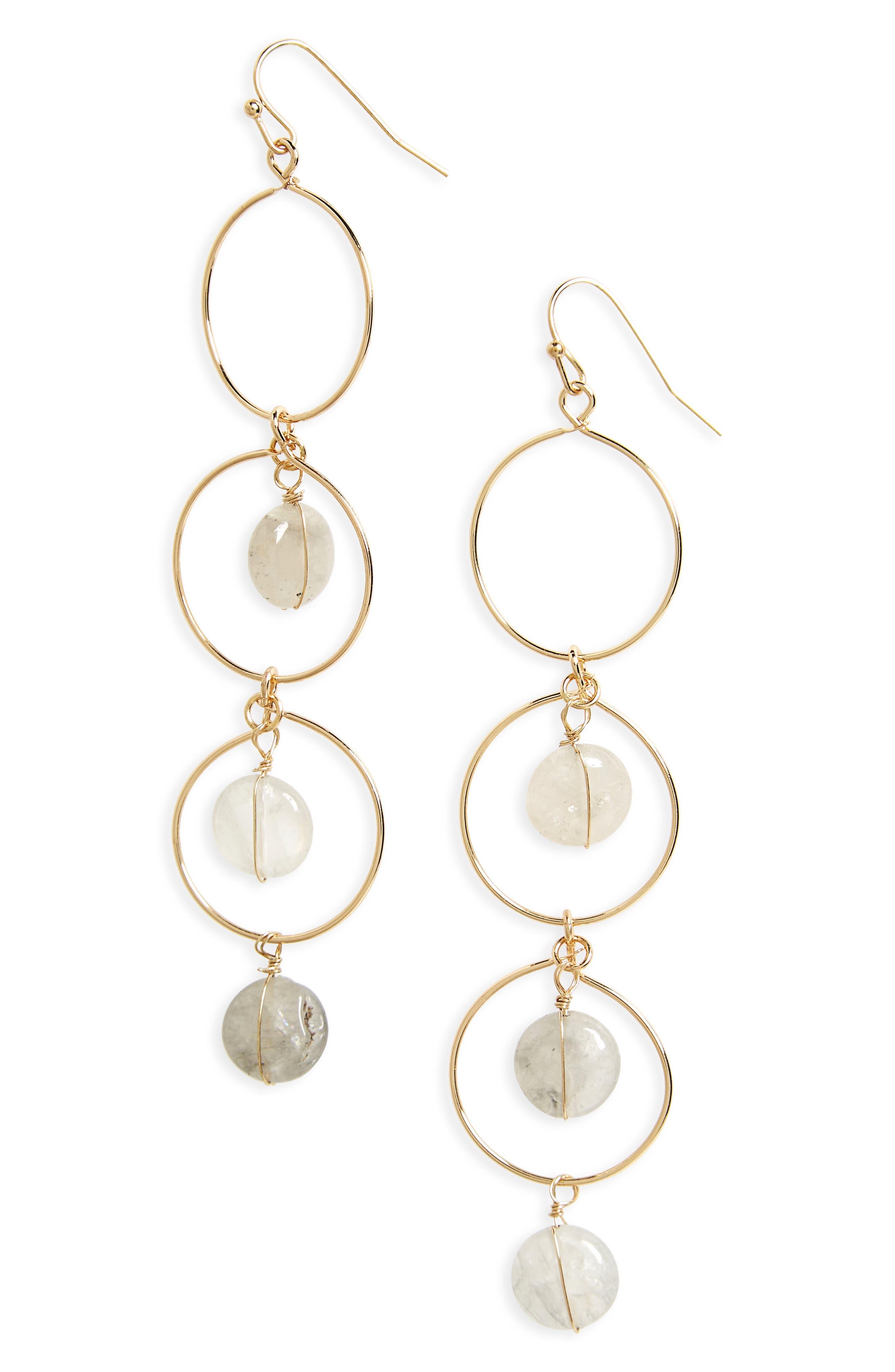 Circle Drop Earrings,                             Main thumbnail 1, color,                             020