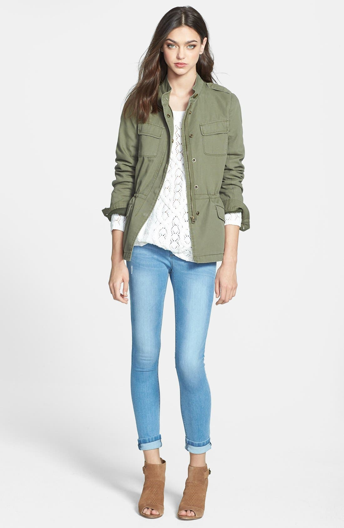 'Expedition' Cotton Twill Jacket,                             Alternate thumbnail 8, color,