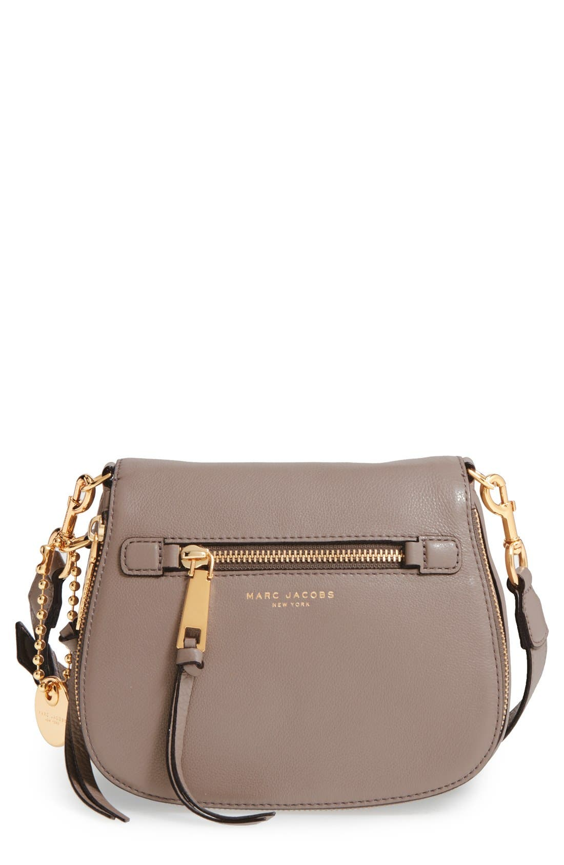 Small Recruit Nomad Pebbled Leather Crossbody Bag,                             Main thumbnail 6, color,