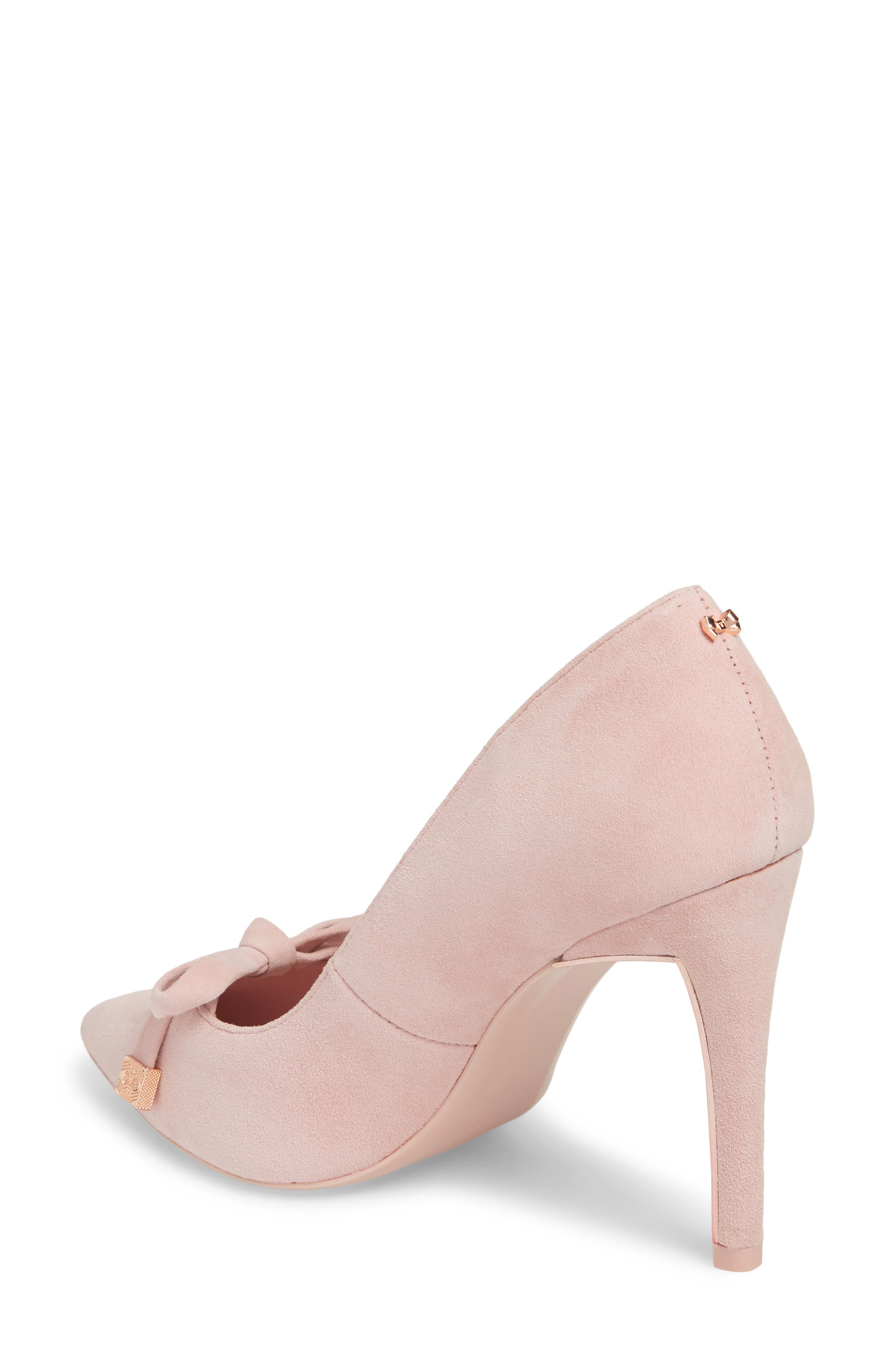 Gewell Bow Pump,                             Alternate thumbnail 2, color,                             MINK PINK SUEDE