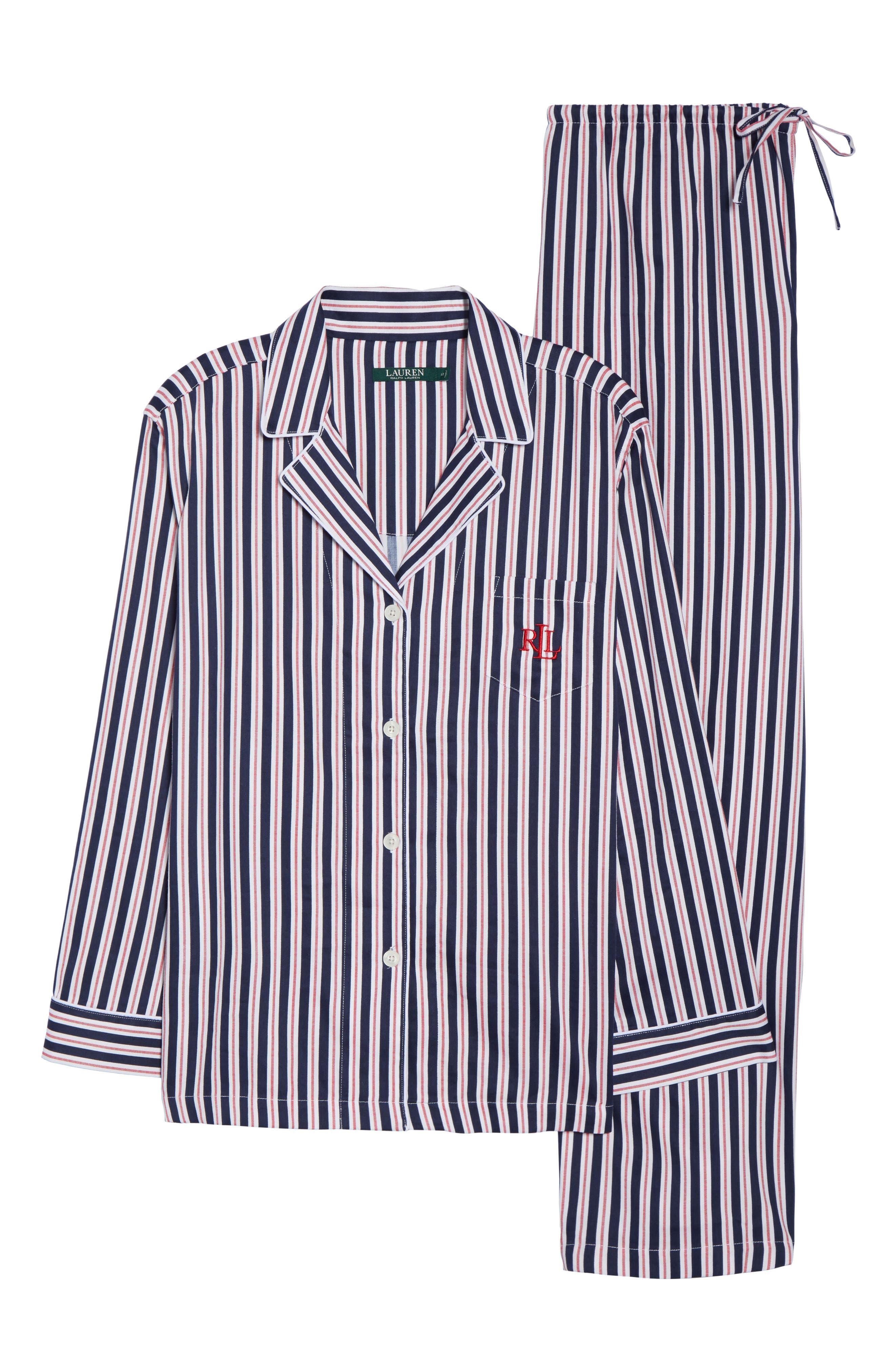 Sateen Pajamas,                             Alternate thumbnail 6, color,