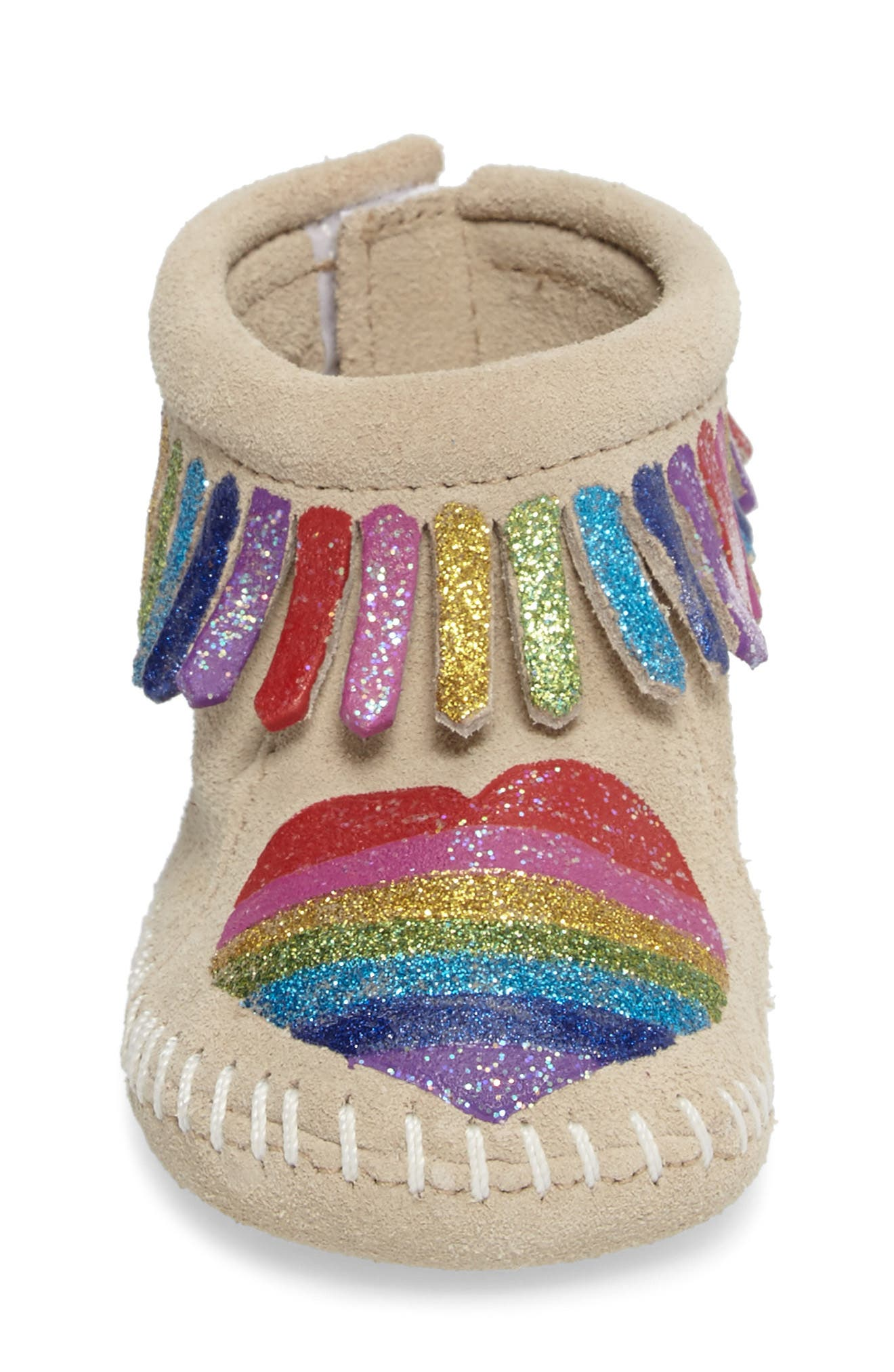 x Free Range Mama Love One Another Bootie,                             Alternate thumbnail 4, color,                             STONE