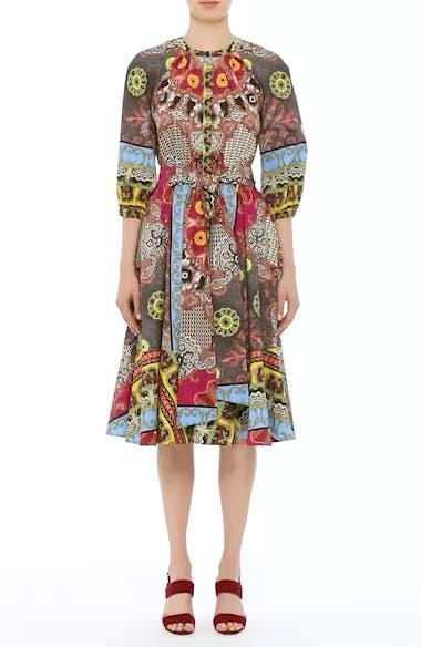 Jungle Paisley Print Cotton Dress, video thumbnail