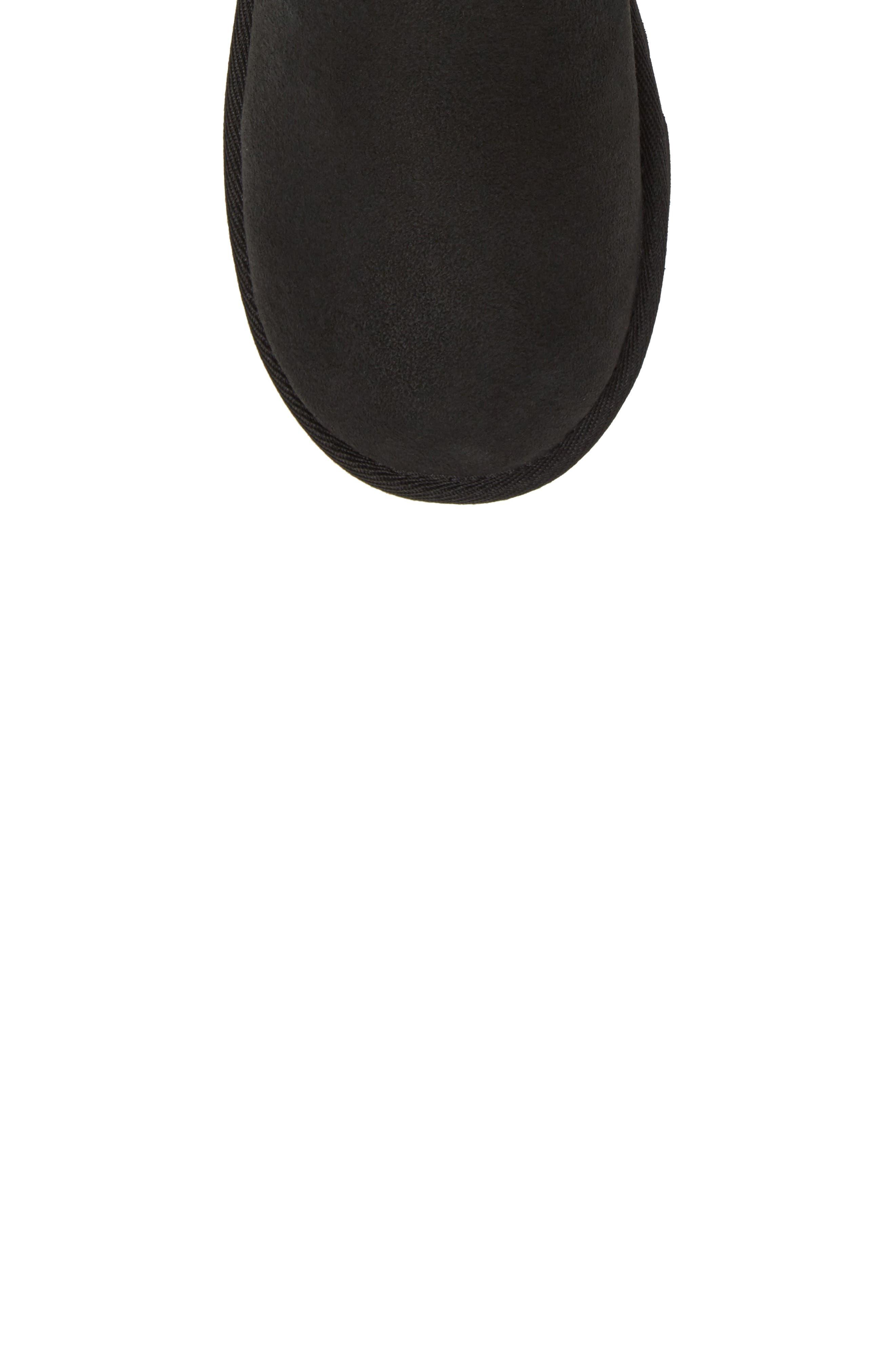 Classic Short II Water Resistant Genuine Shearling Boot,                             Alternate thumbnail 5, color,                             BLACK