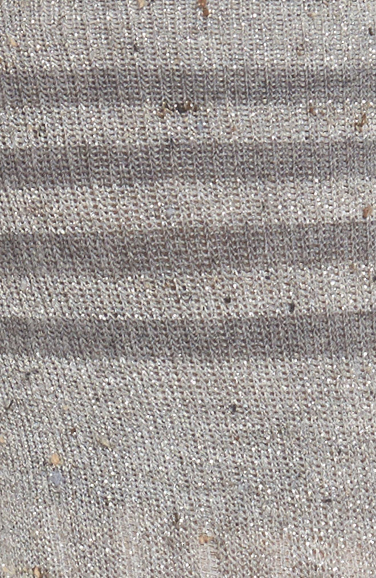 Metallic Tweed Rugby Stripe Crew Socks,                             Alternate thumbnail 2, color,                             020