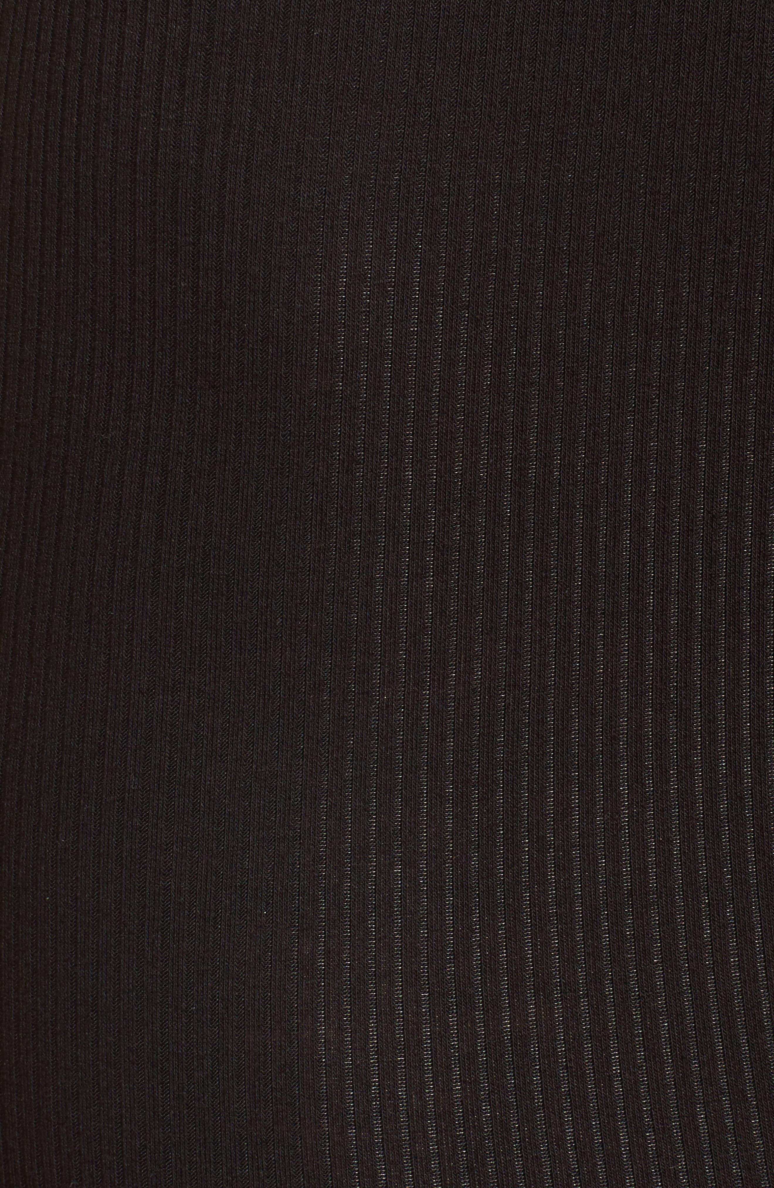 Ribbed Corset Tank Dress,                             Alternate thumbnail 5, color,                             001