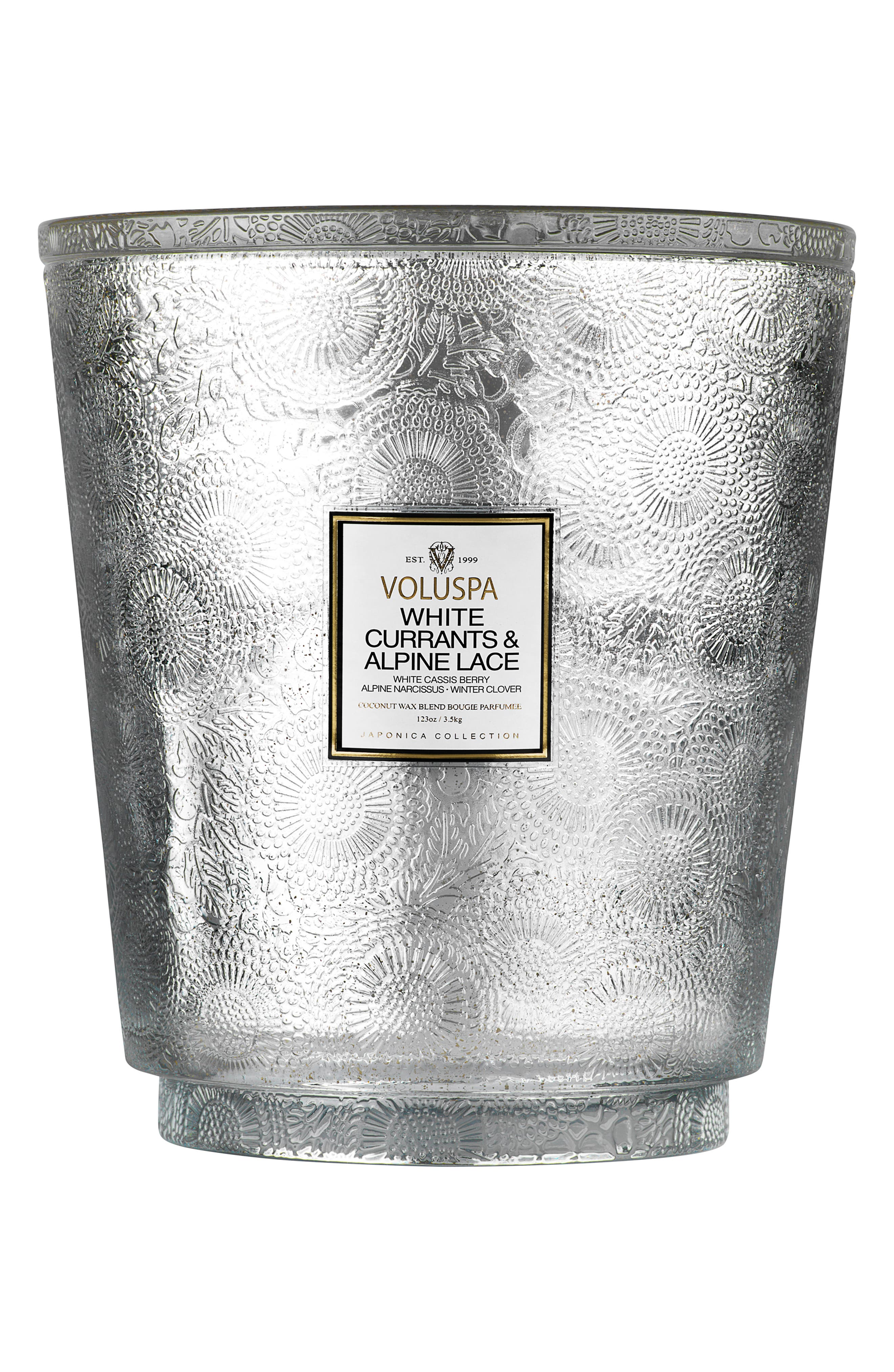 Japonica Hearth 5-Wick Glass Candle,                             Main thumbnail 1, color,                             040