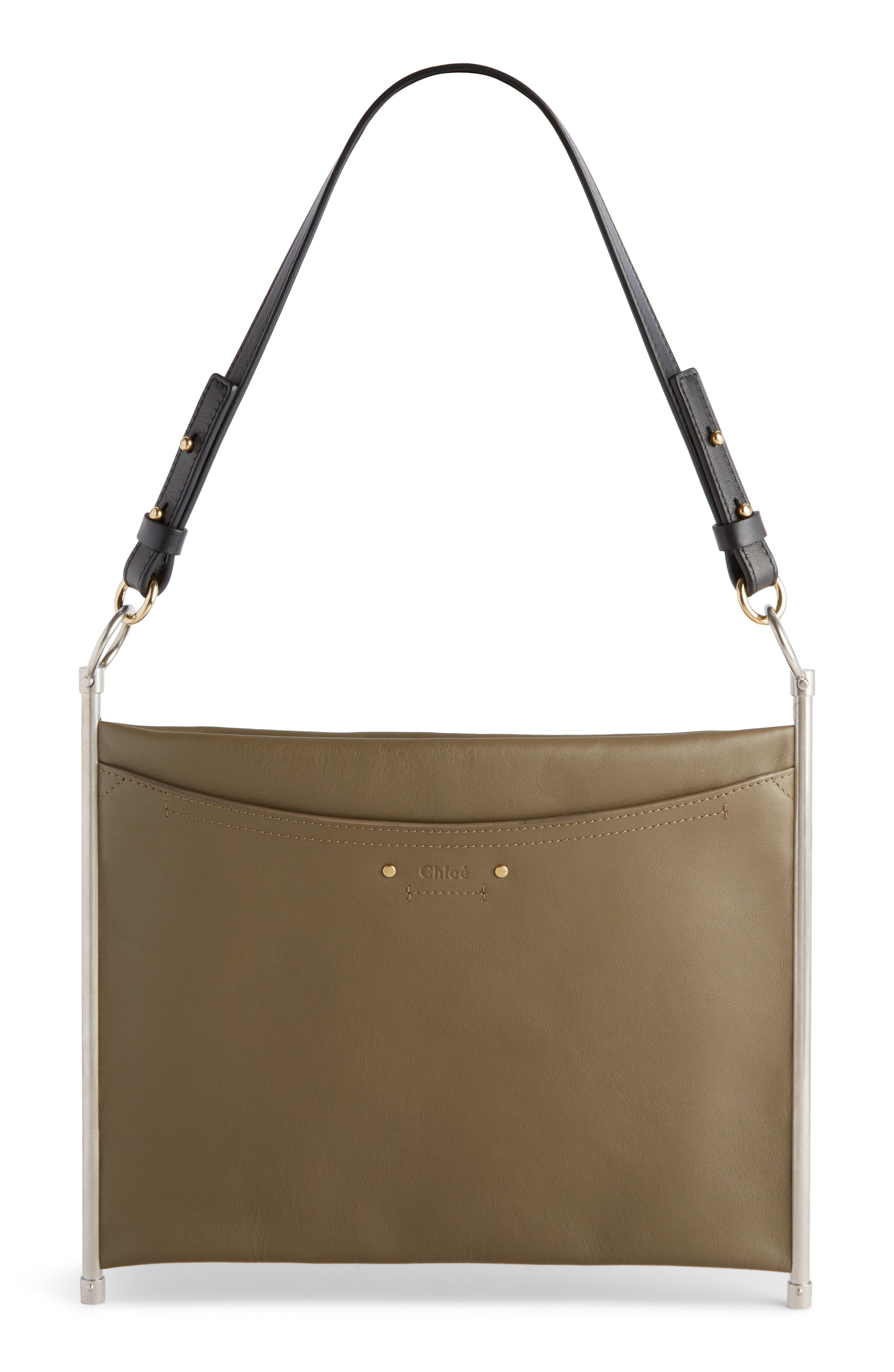 Roy Single Leather Clutch,                             Main thumbnail 1, color,                             020