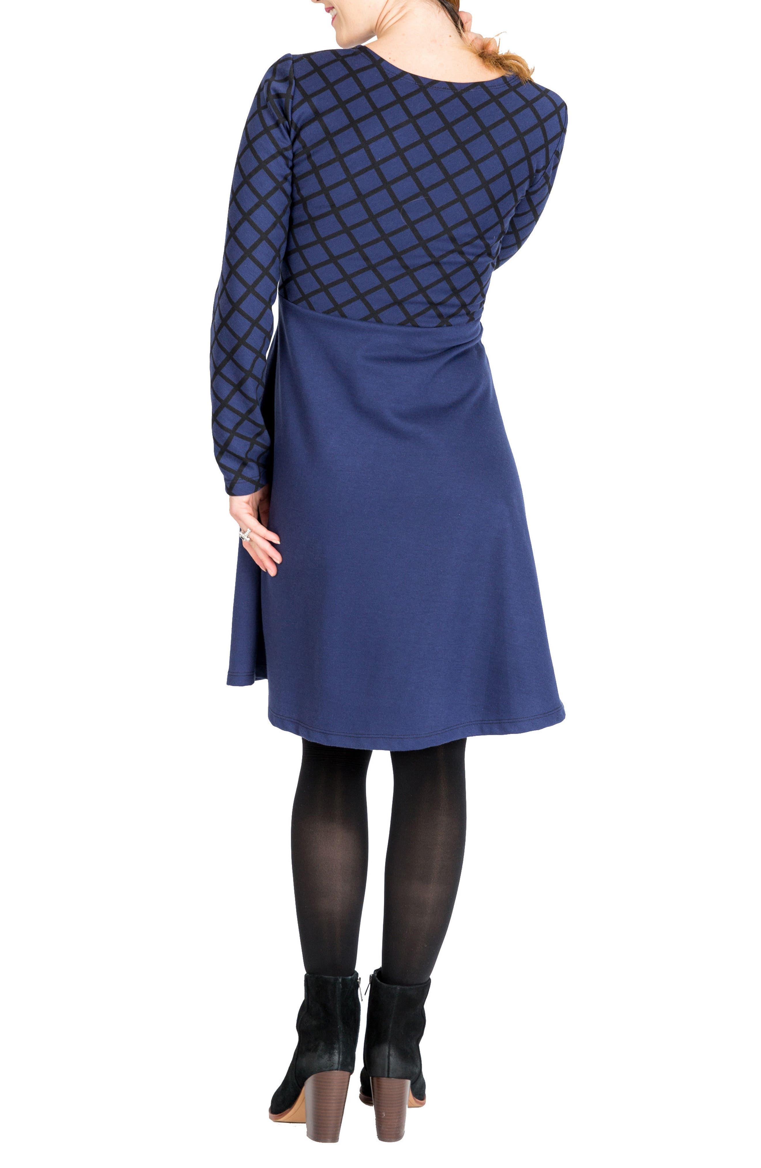 NOM MATERNITY,                             Emma Print Overlay Maternity/Nursing Dress,                             Alternate thumbnail 2, color,                             400