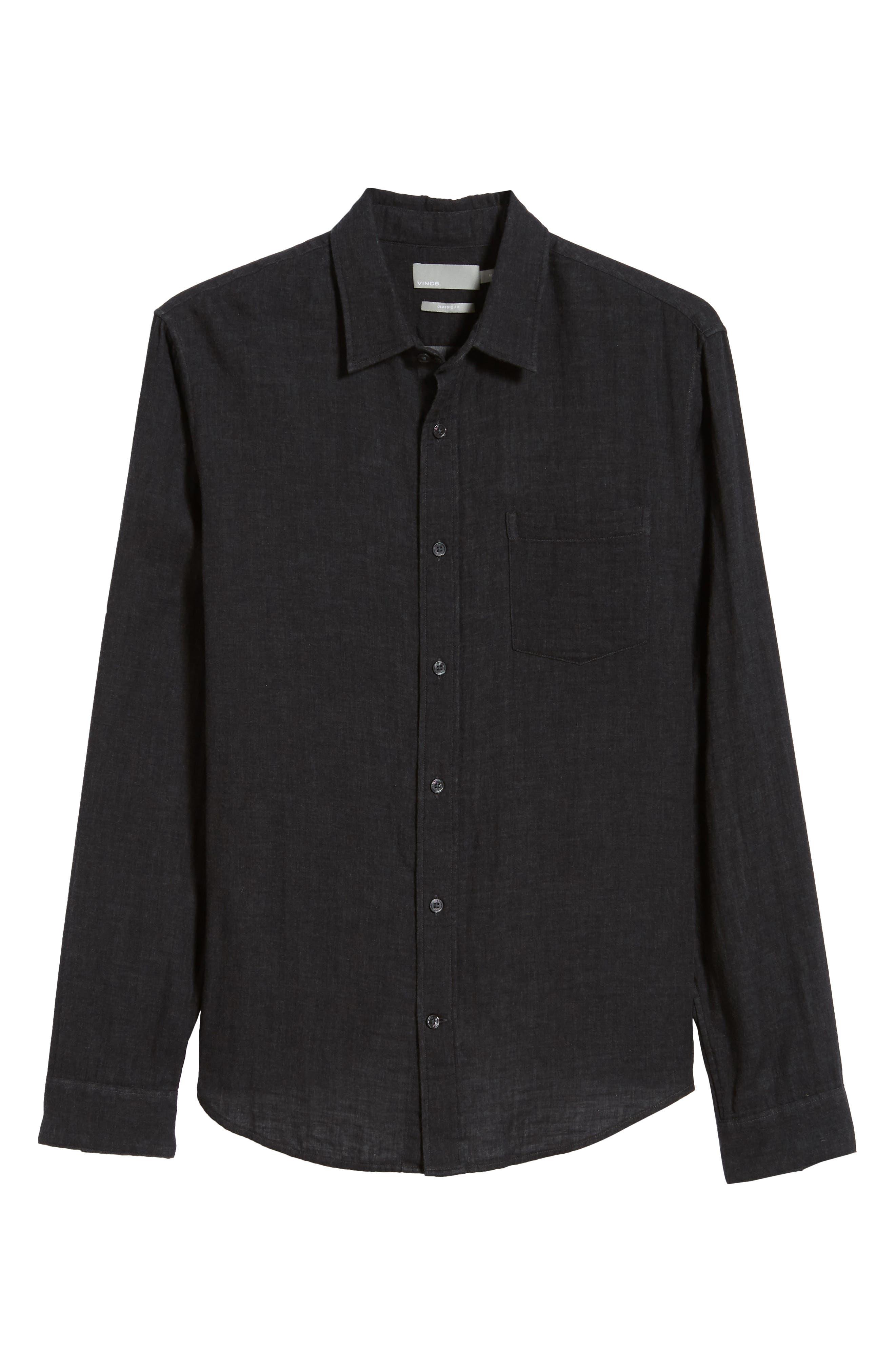 Classic Fit Double Knit Sport Shirt,                             Alternate thumbnail 5, color,                             008