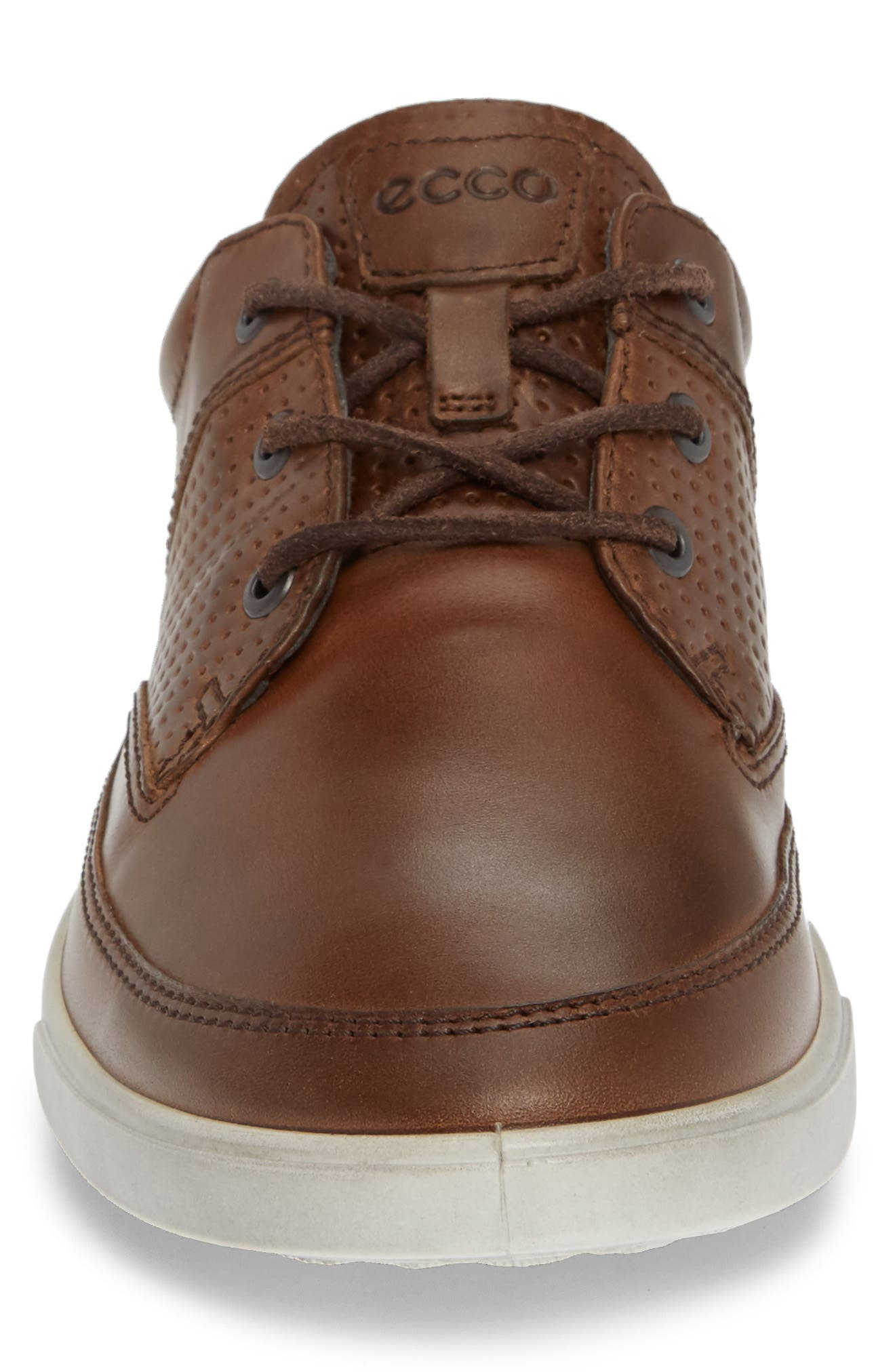 'Collin' Nautical Sneaker,                             Alternate thumbnail 4, color,                             COCOA BROWN LEATHER