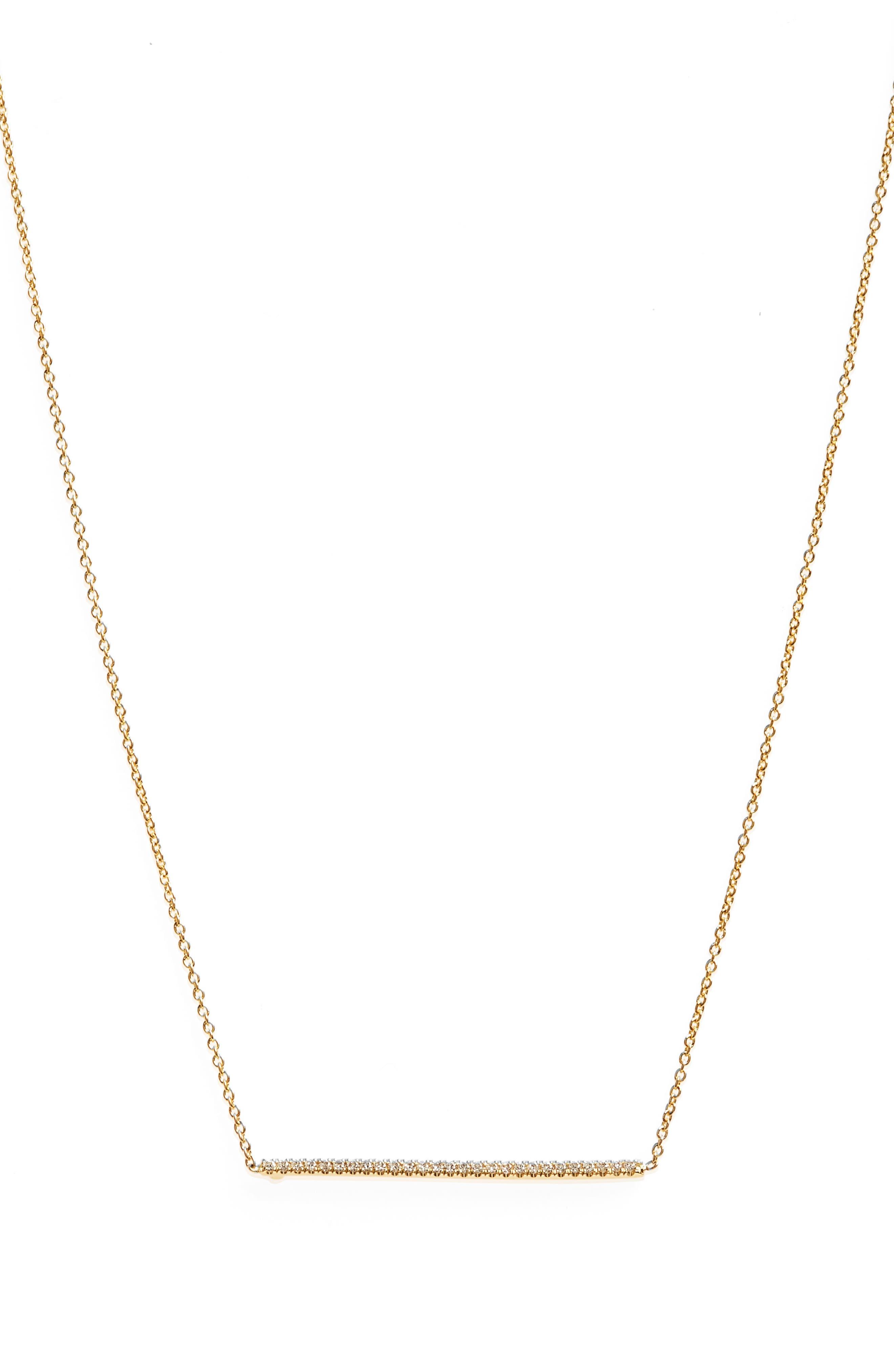 Tiny Treasures Diamond Bar Necklace,                         Main,                         color,