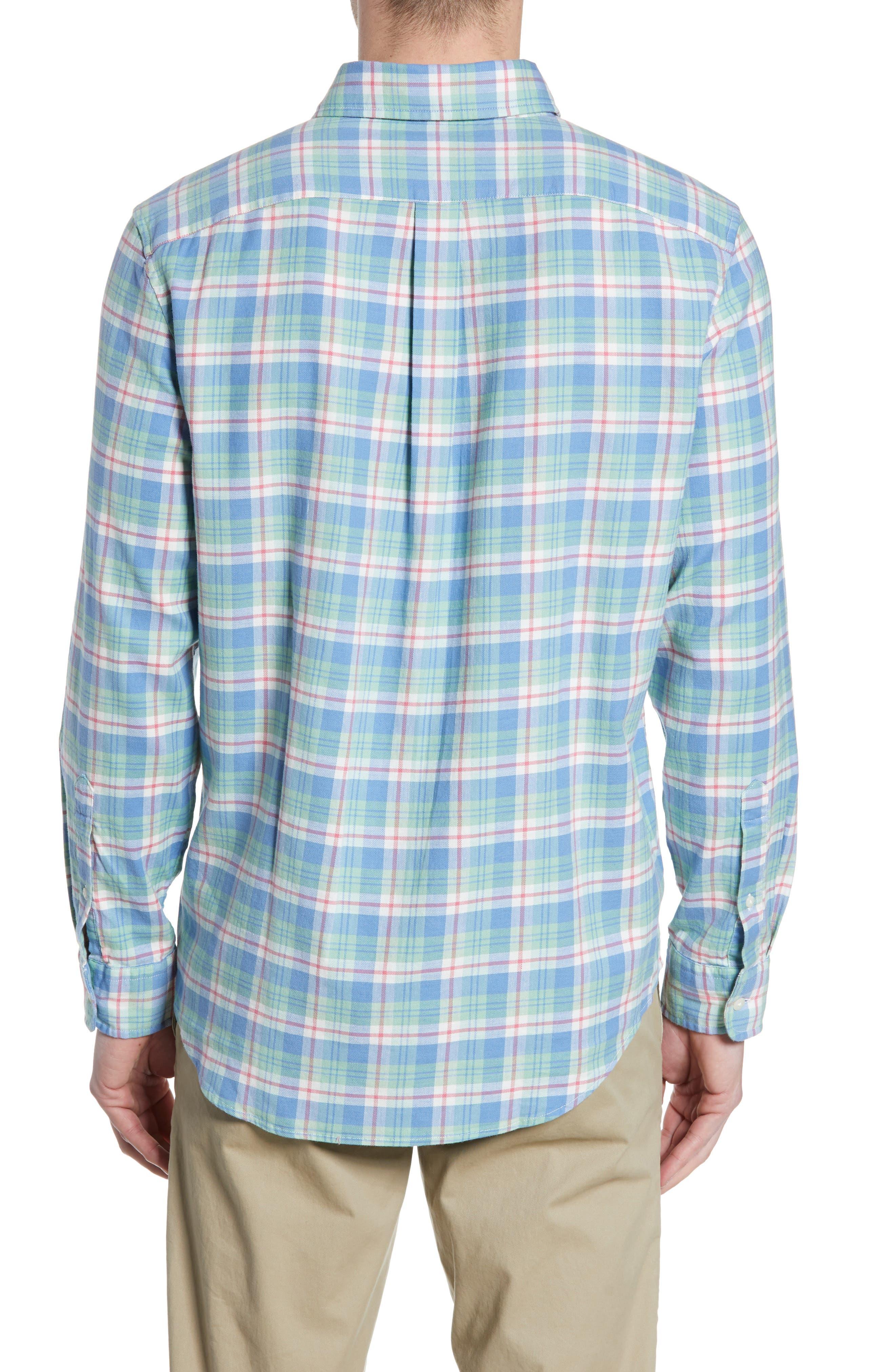 VINEYARD VINES,                             Murray Slim Fit Twill Sport Shirt,                             Alternate thumbnail 3, color,                             SEA KELP