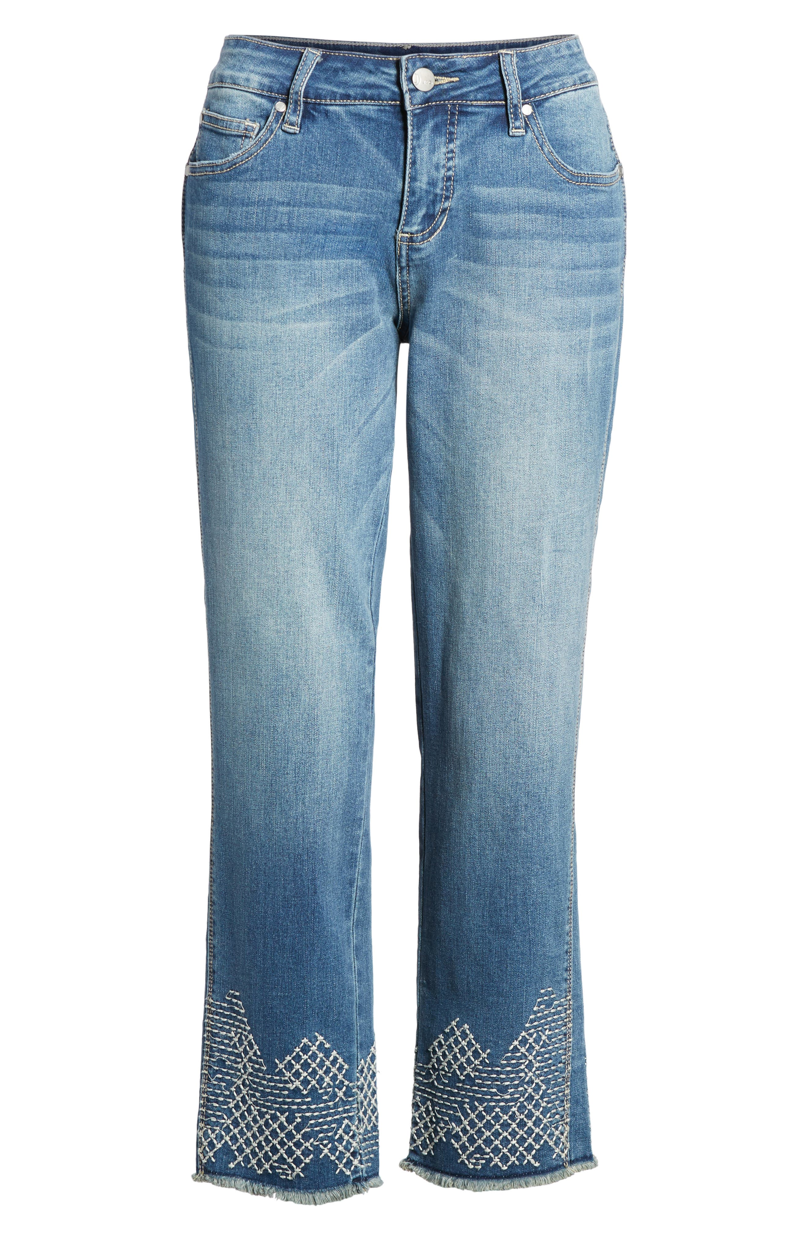 Long Straight Ankle Jeans,                             Alternate thumbnail 6, color,                             420