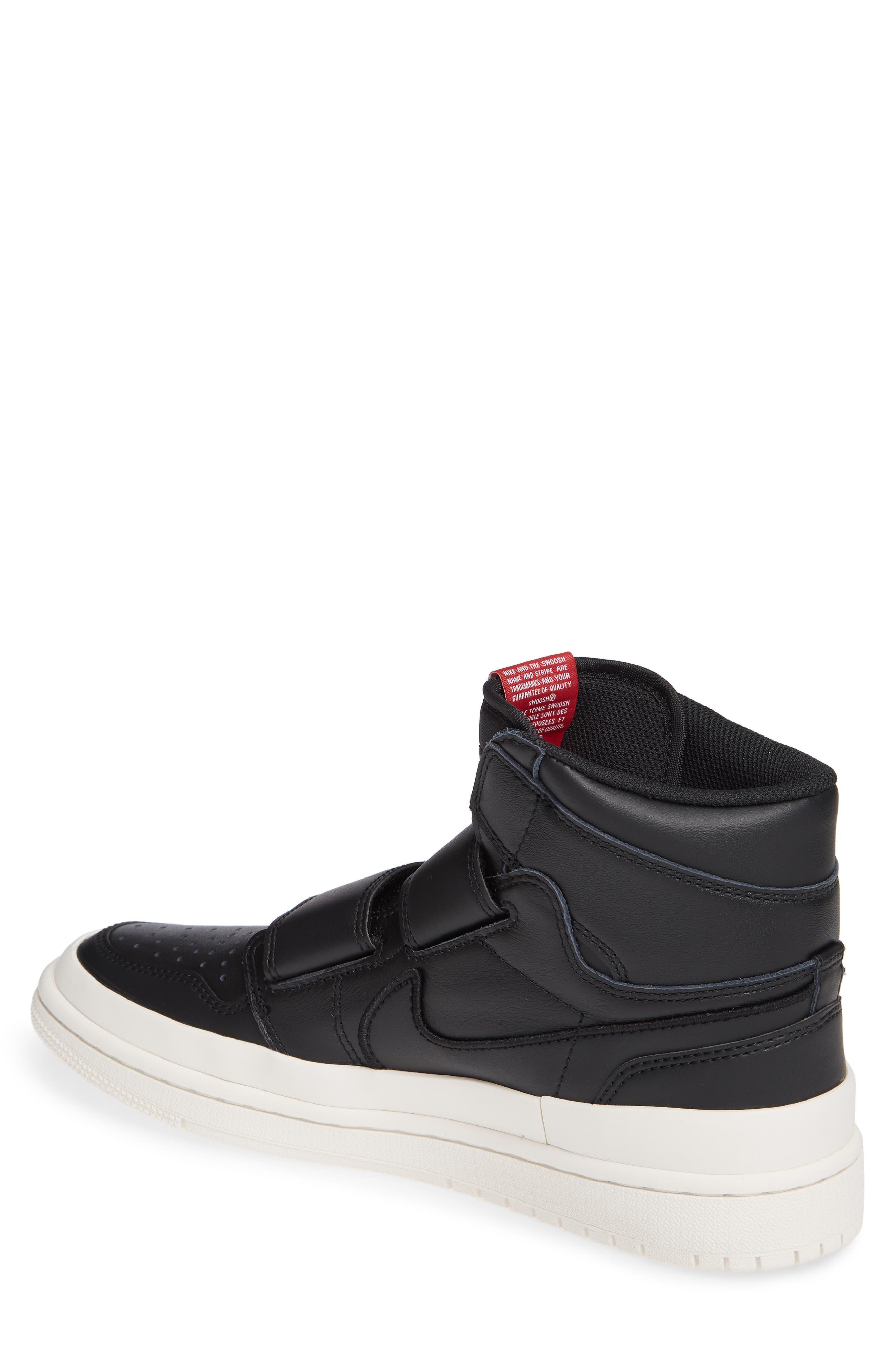 Air Jordan 1 Retro High Double Strap Sneaker,                             Alternate thumbnail 2, color,                             BLACK/ GYM RED