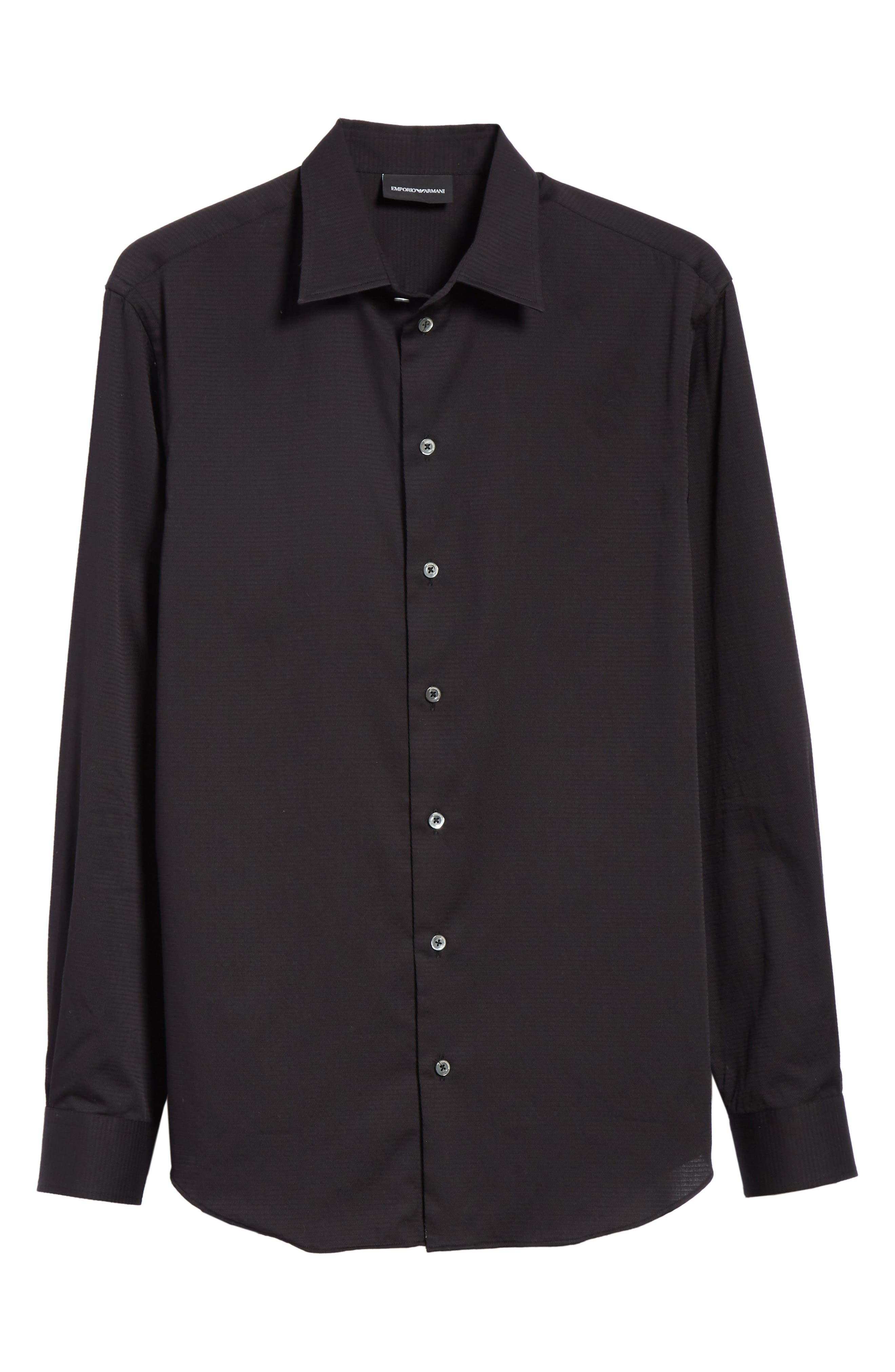 Slim Fit Solid Sport Shirt,                             Alternate thumbnail 6, color,                             ARMANI