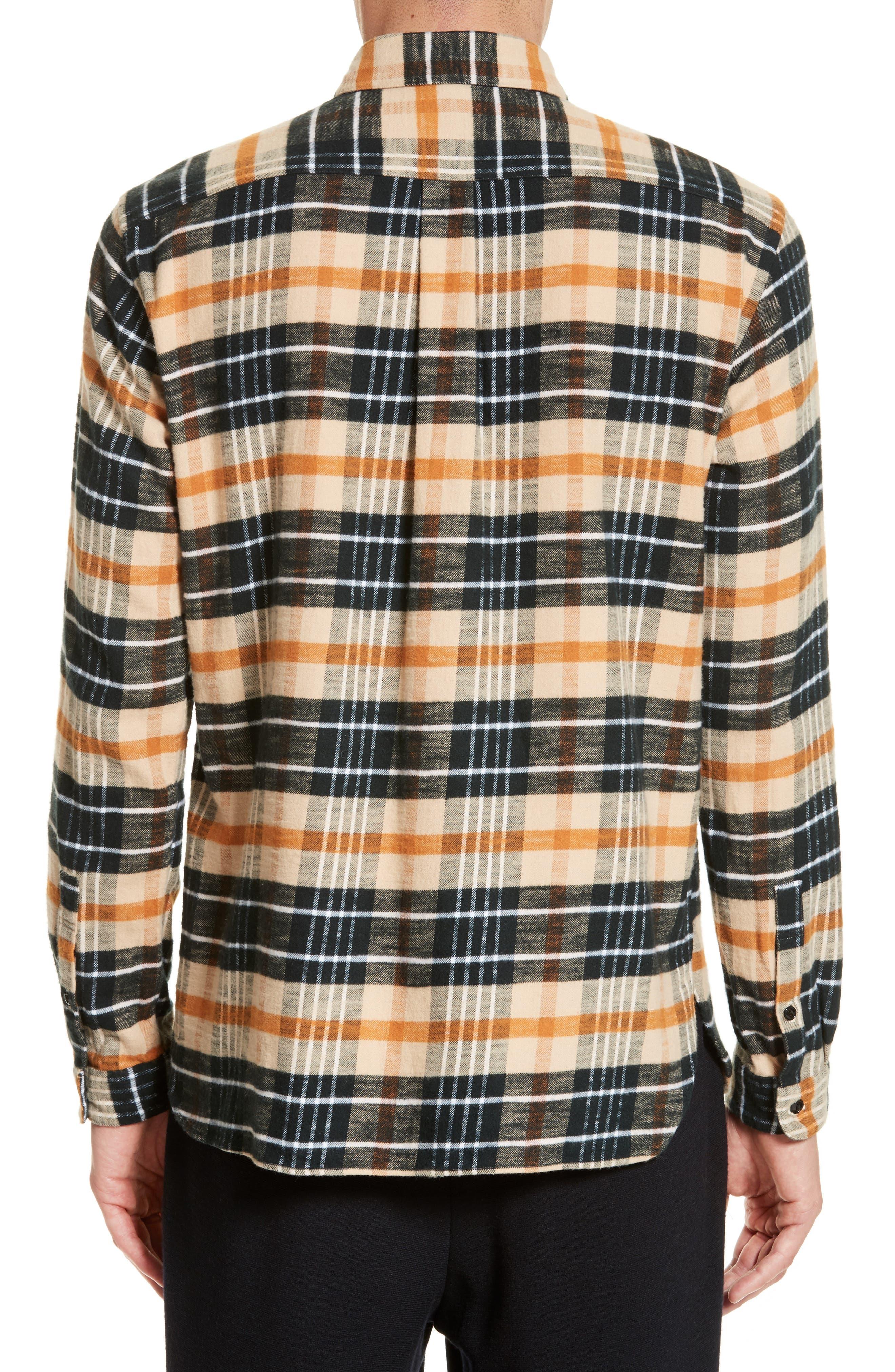 Bradford Plaid Flannel Sport Shirt,                             Alternate thumbnail 2, color,                             270