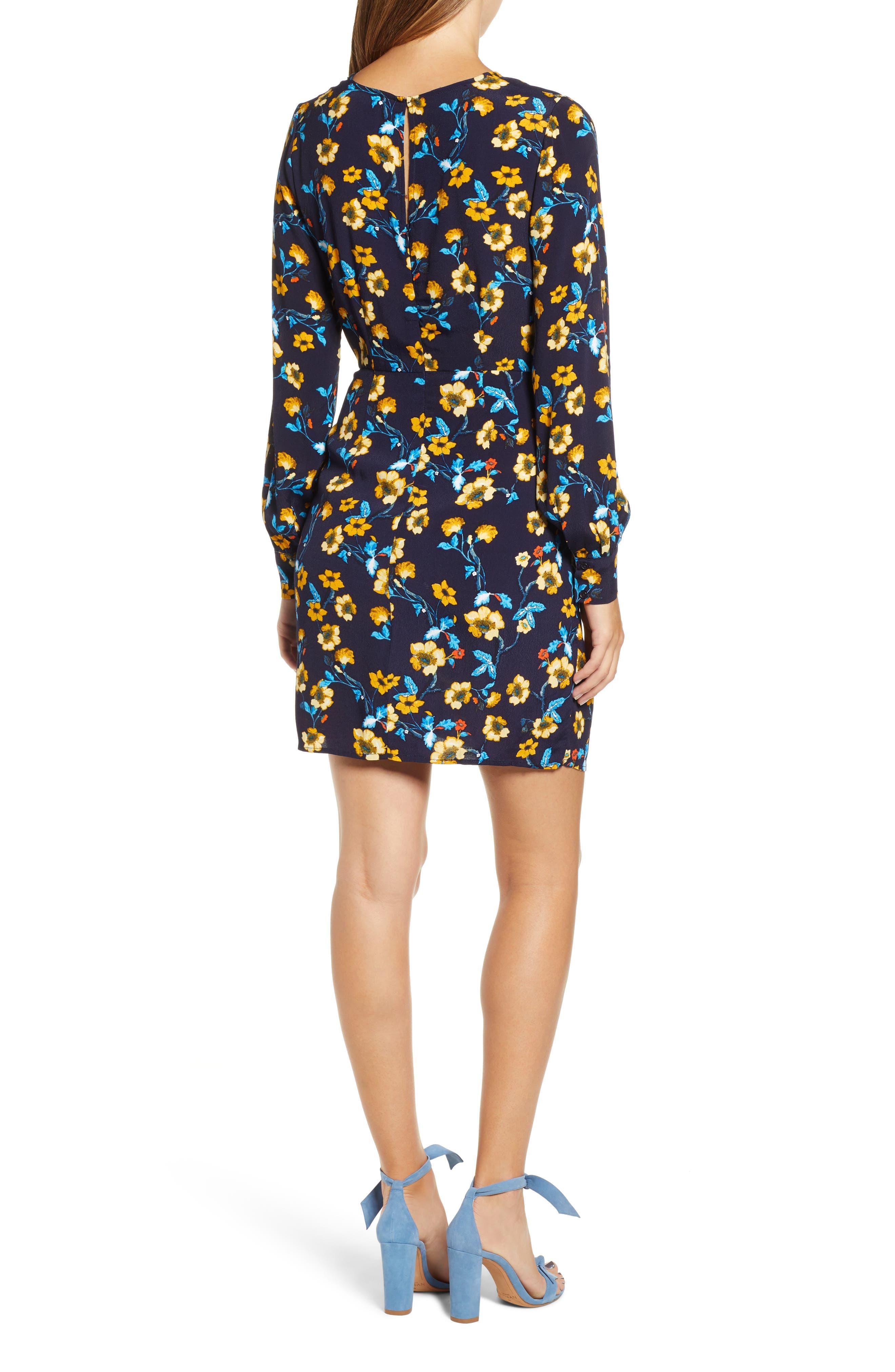 Apron Front Long Sleeve Dress,                             Alternate thumbnail 2, color,                             400