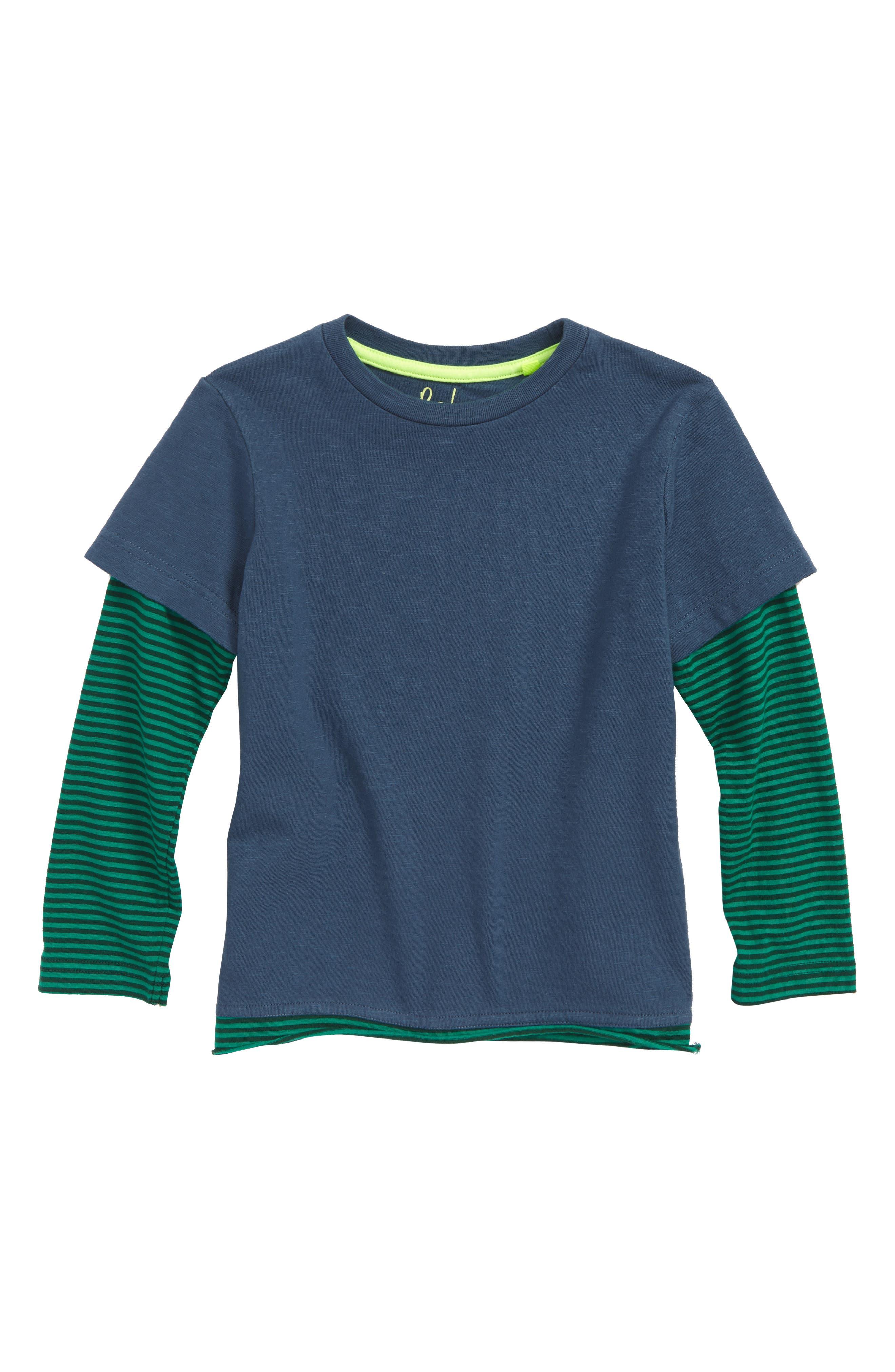 MINI BODEN Layered T-Shirt, Main, color, 424