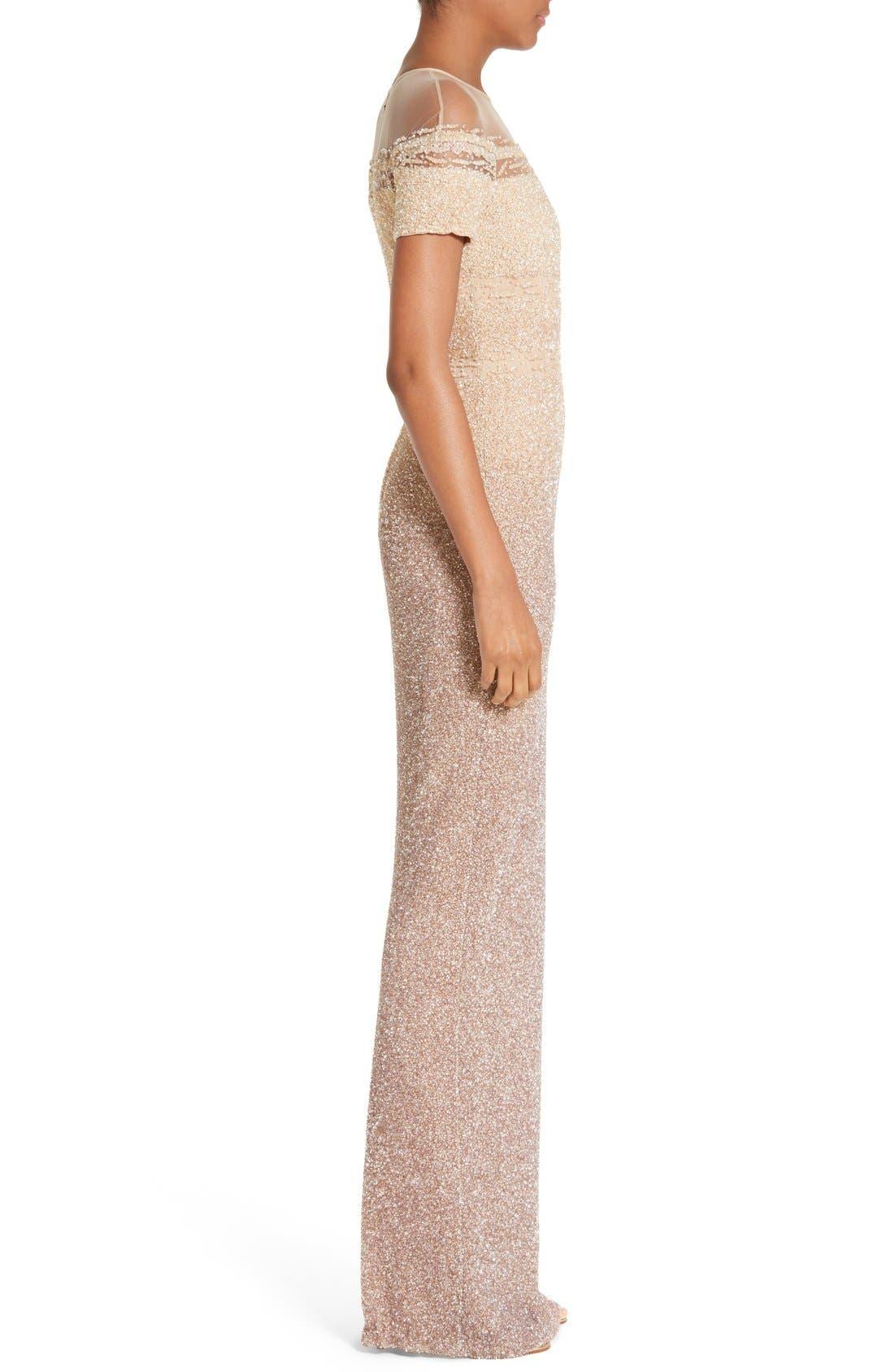 Signature Sequin Column Gown,                             Alternate thumbnail 4, color,                             250