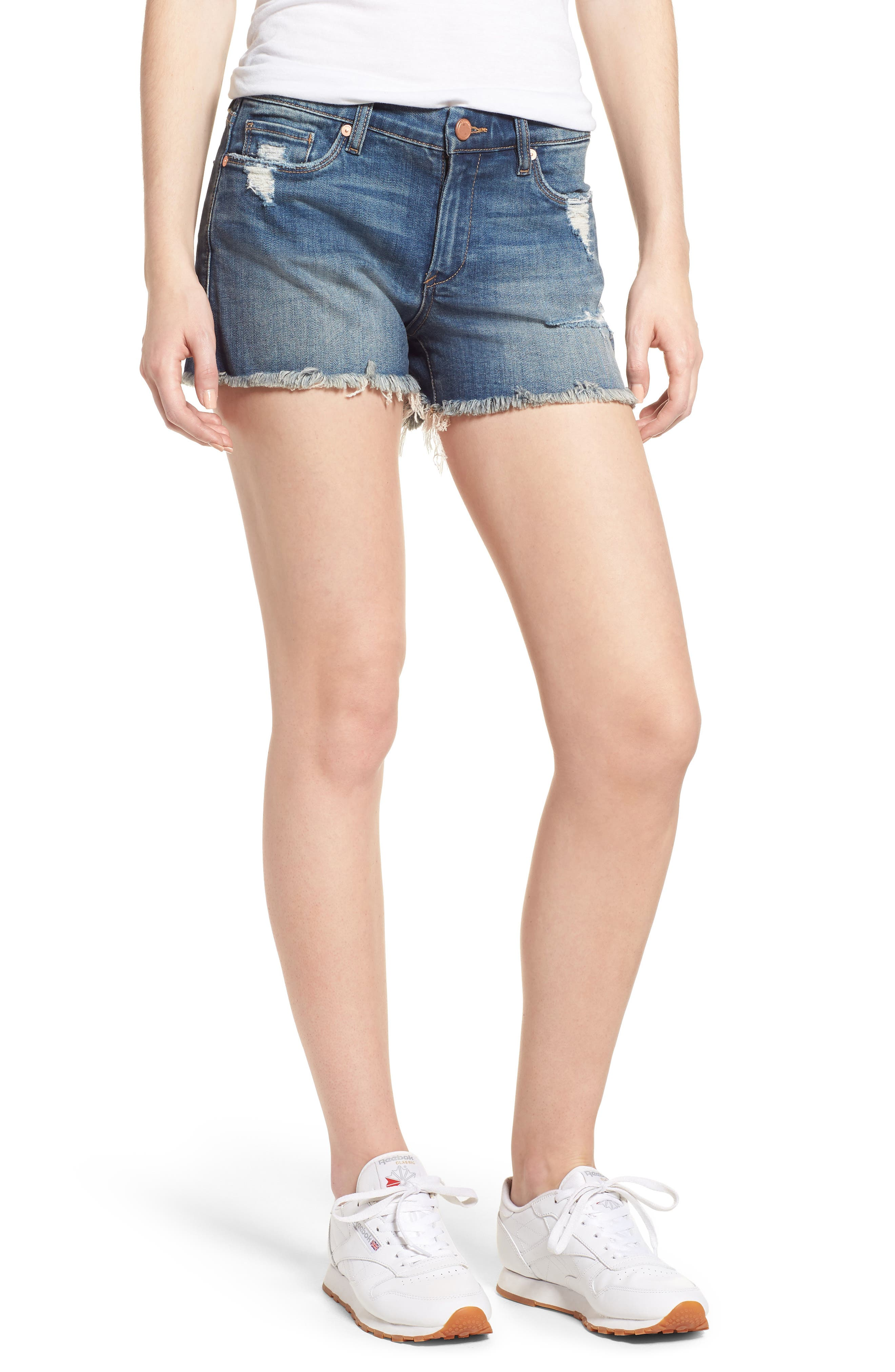 The Essex Distressed Denim Shorts,                             Main thumbnail 1, color,                             ALTER EGO