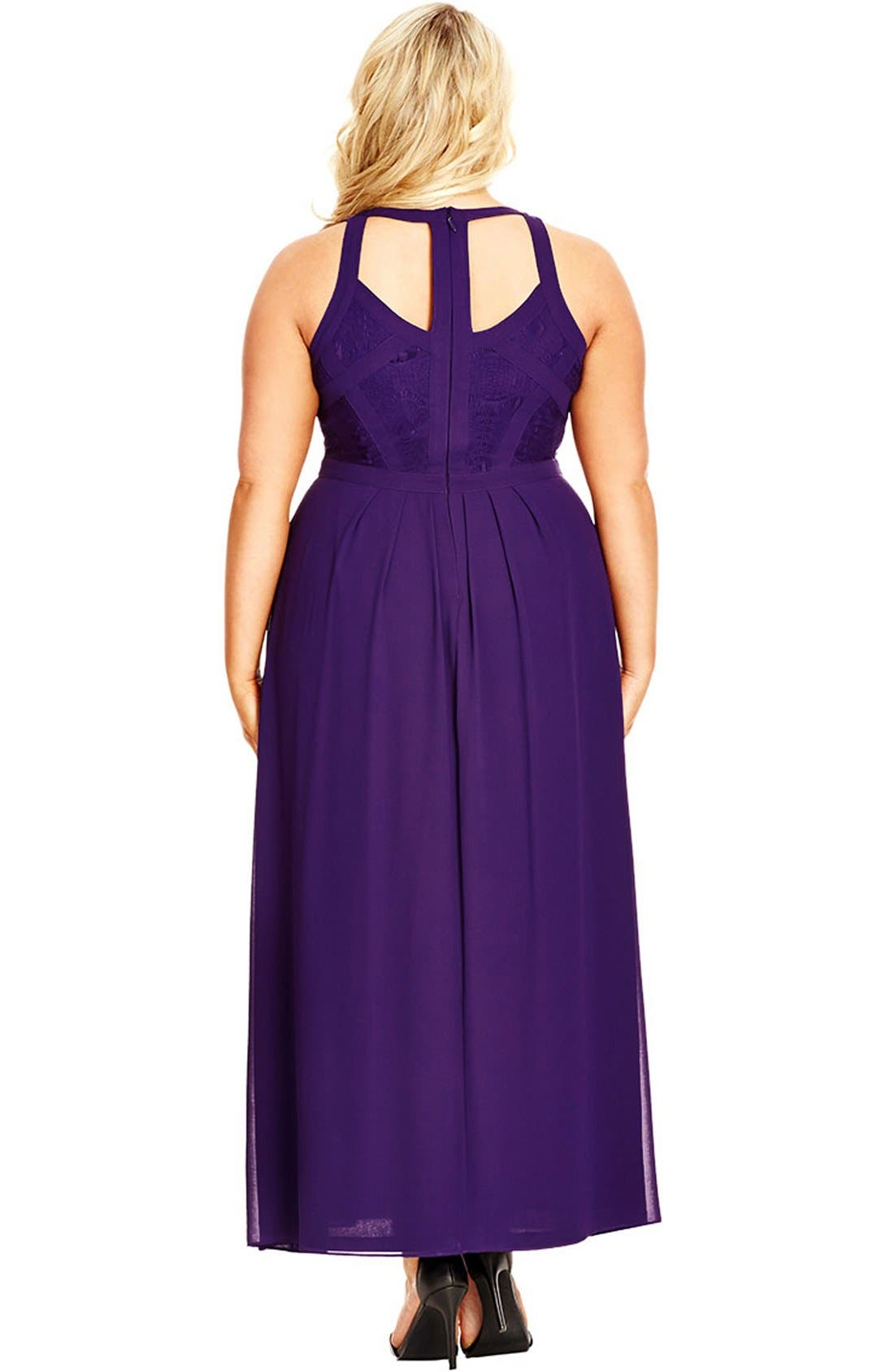 Paneled Lace Bodice Gown,                             Alternate thumbnail 20, color,