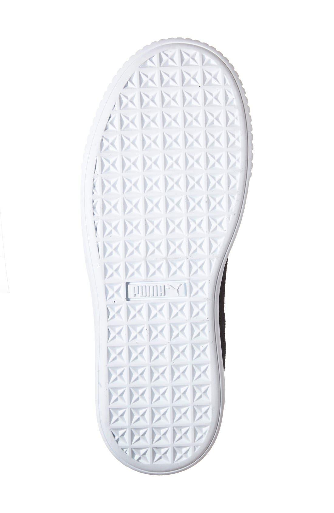 Suede Platform Sneaker,                             Alternate thumbnail 22, color,